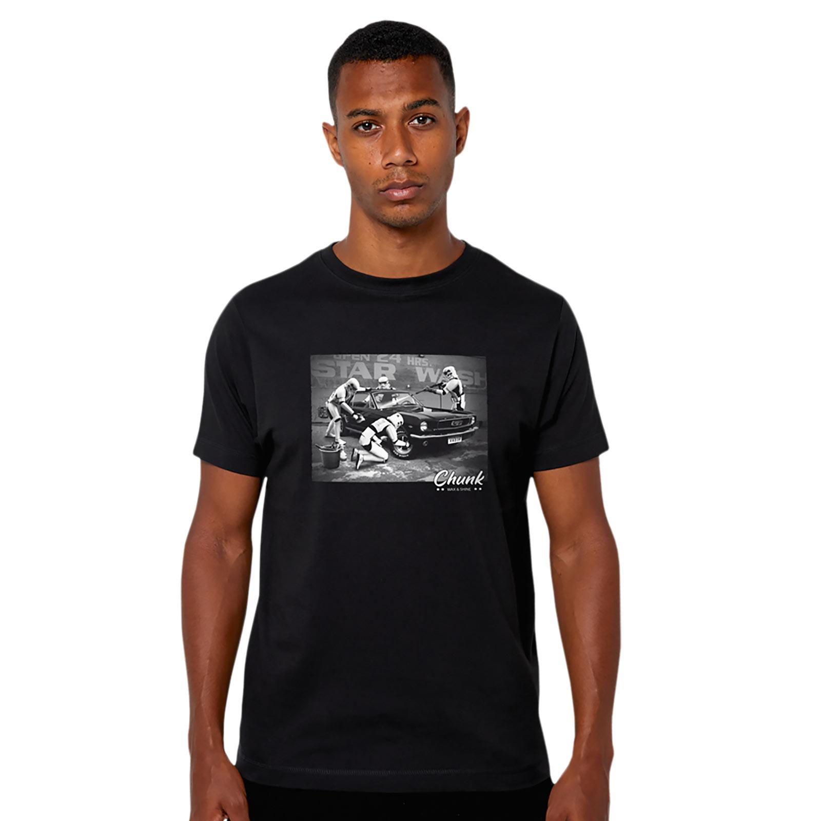 Star Wash T-Shirt für Star Wars Fans schwarz