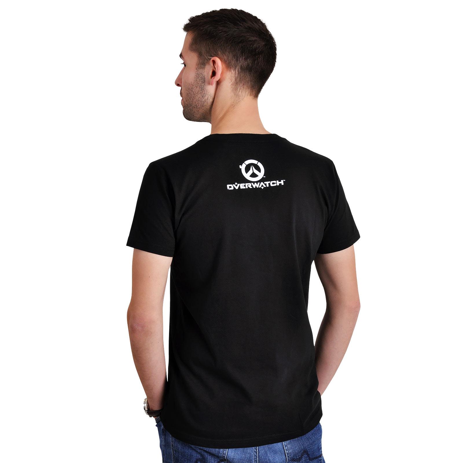 Overwatch - Reaper Spray Logo T-Shirt schwarz