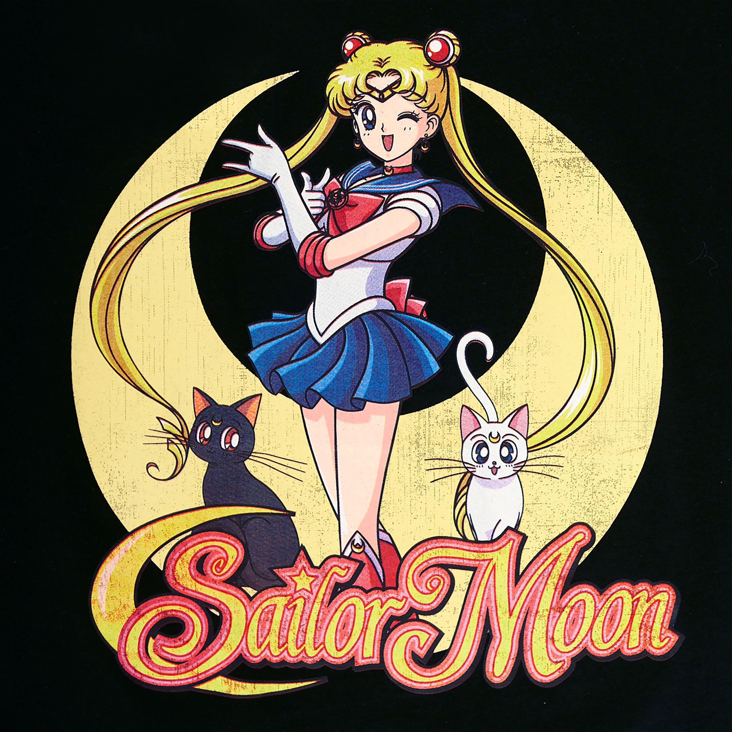 Sailor Moon - Pose T-Shirt Damen schwarz