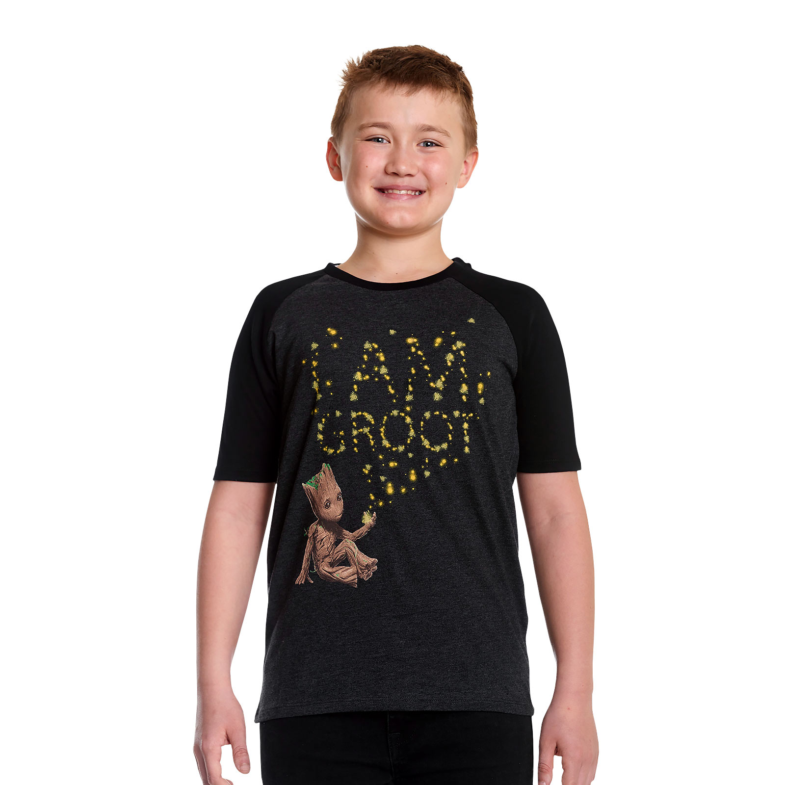 Guardians of the Galaxy - Groot Glow in the Dark T-Shirt Kinder grau