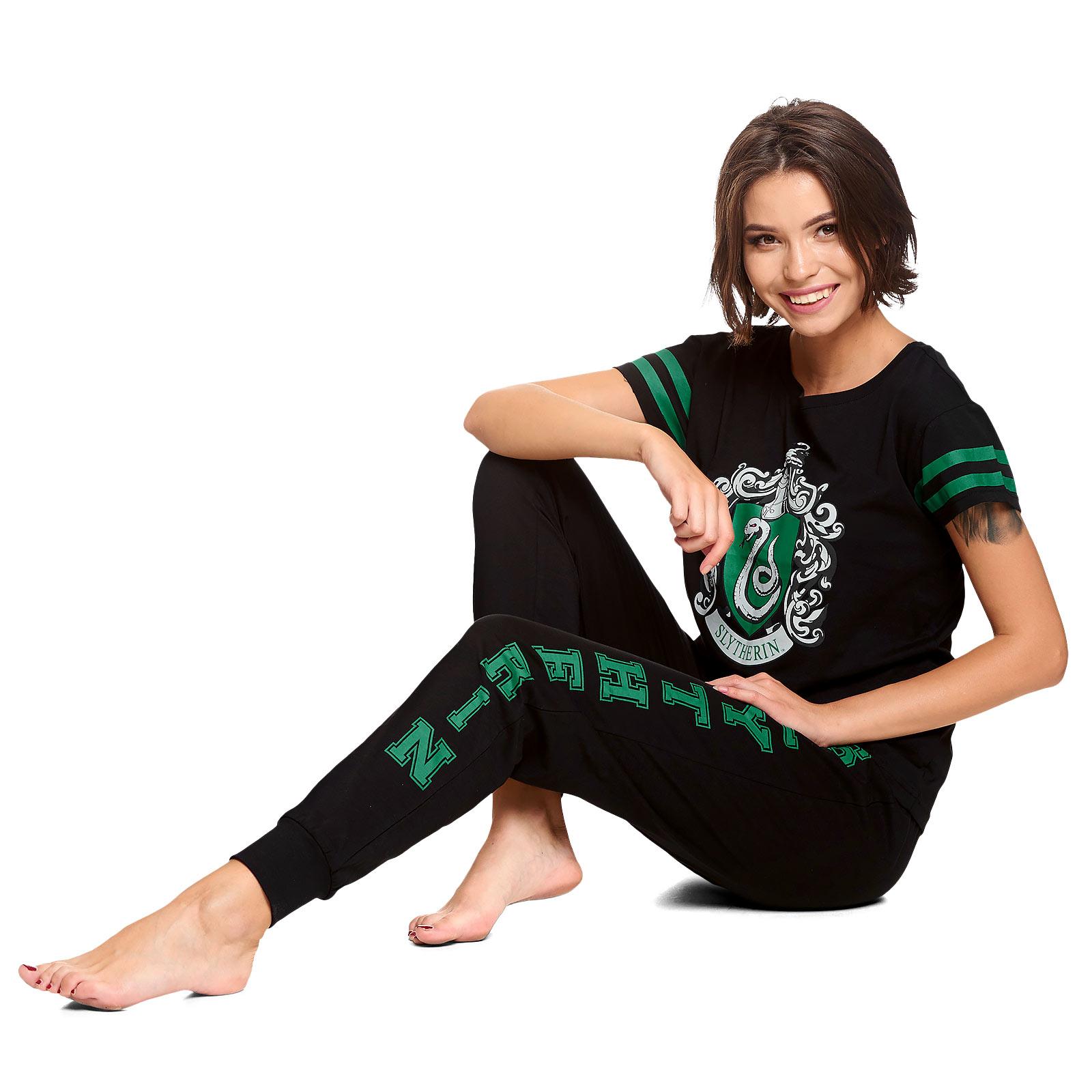 Harry Potter - Slytherin Wappen Pyjama Damen
