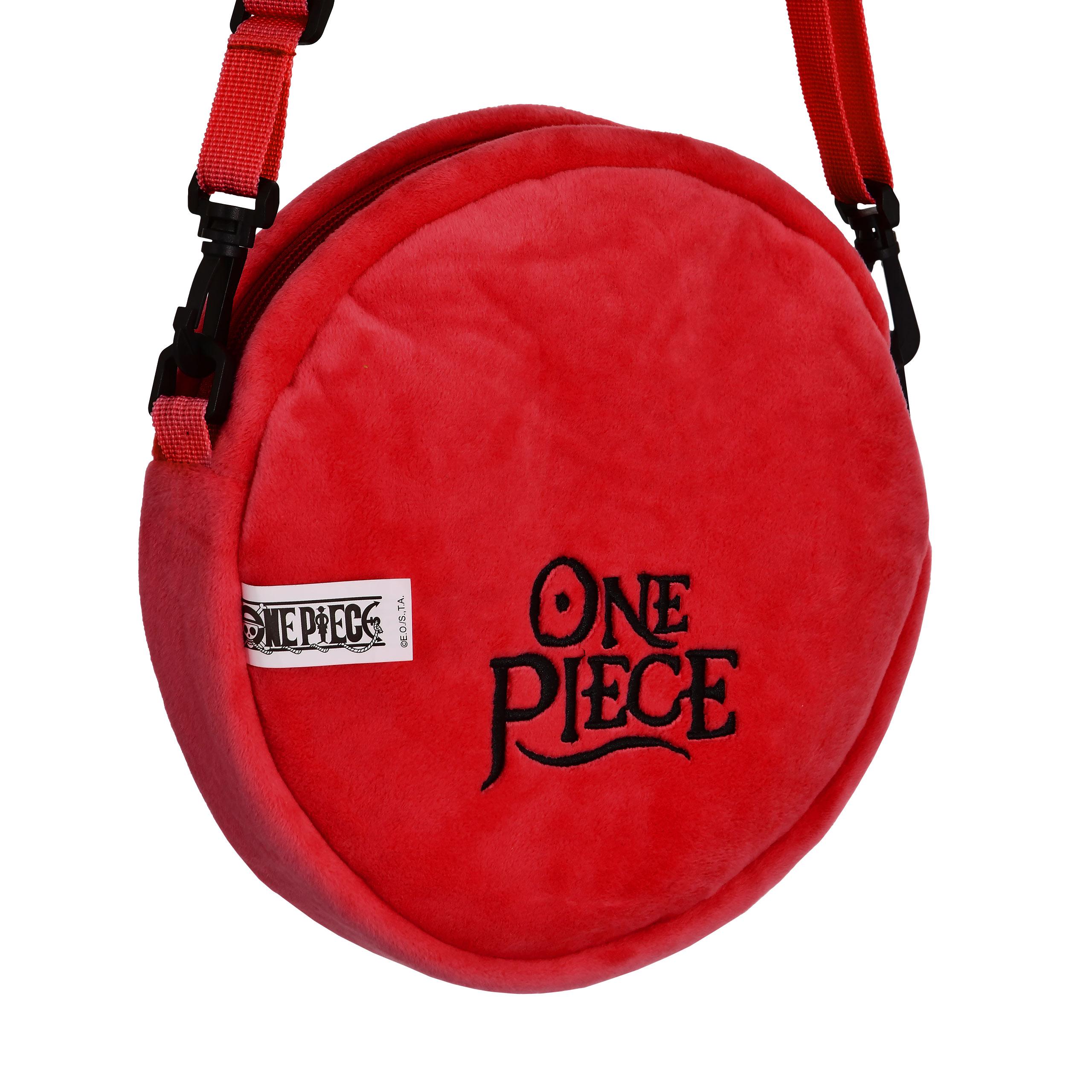 One Piece - Luffy Plüsch Umhängetasche rot