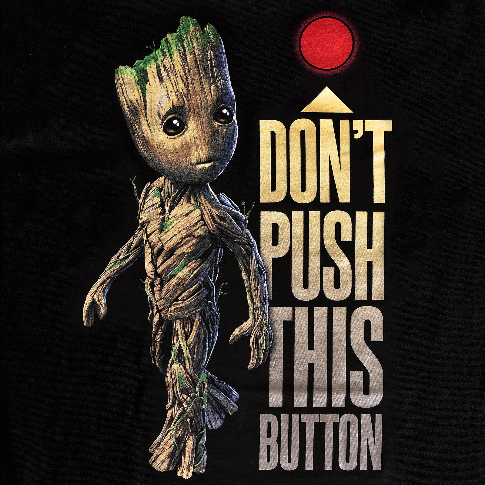 Guardians of the Galaxy - Groot Button T-Shirt Damen schwarz
