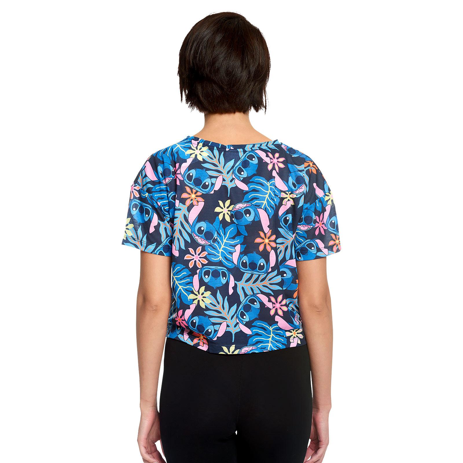 Lilo & Stitch - Aloha Stitch T-Shirt Damen mit Knoten