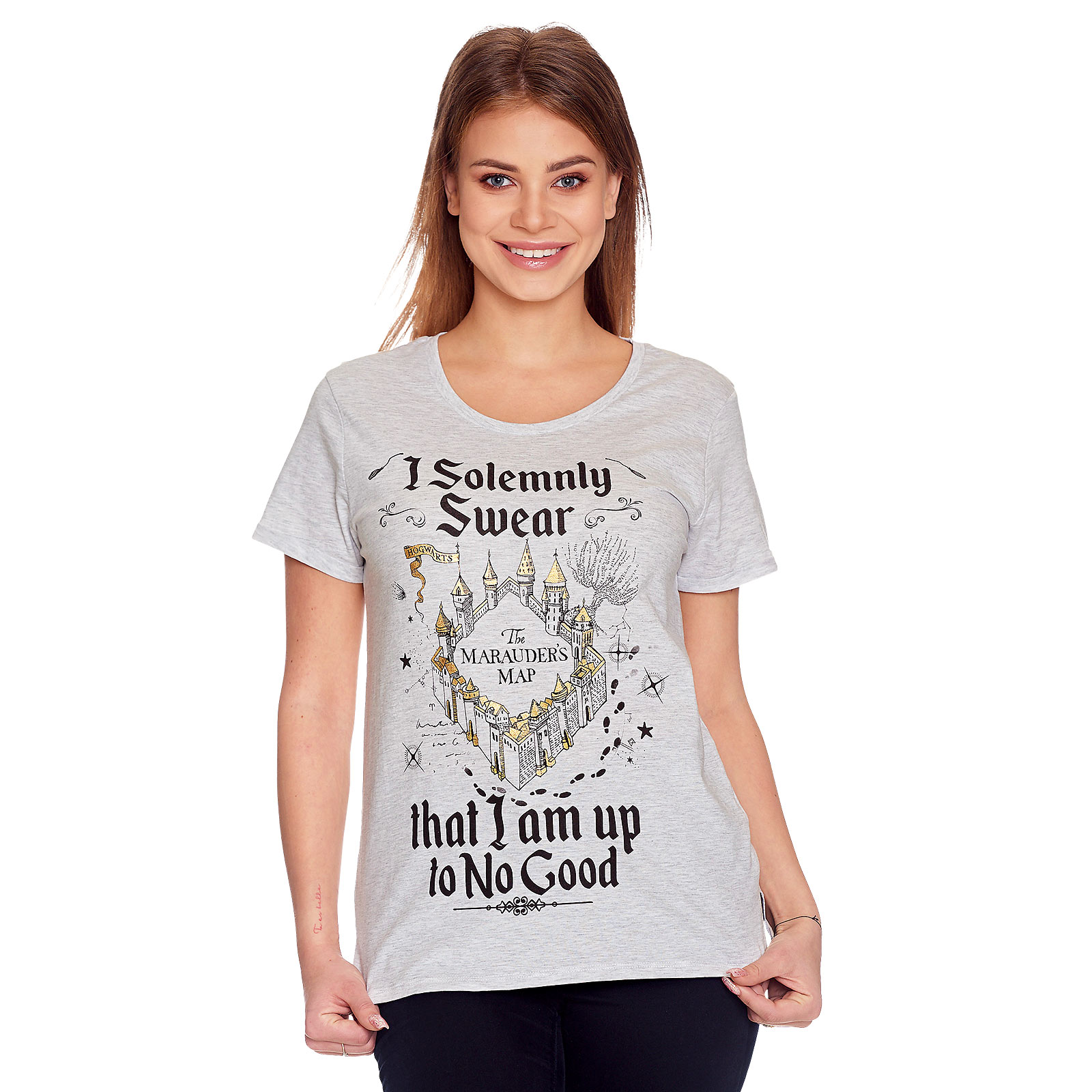 Harry Potter - Karte des Rumtreibers T-Shirt Damen grau