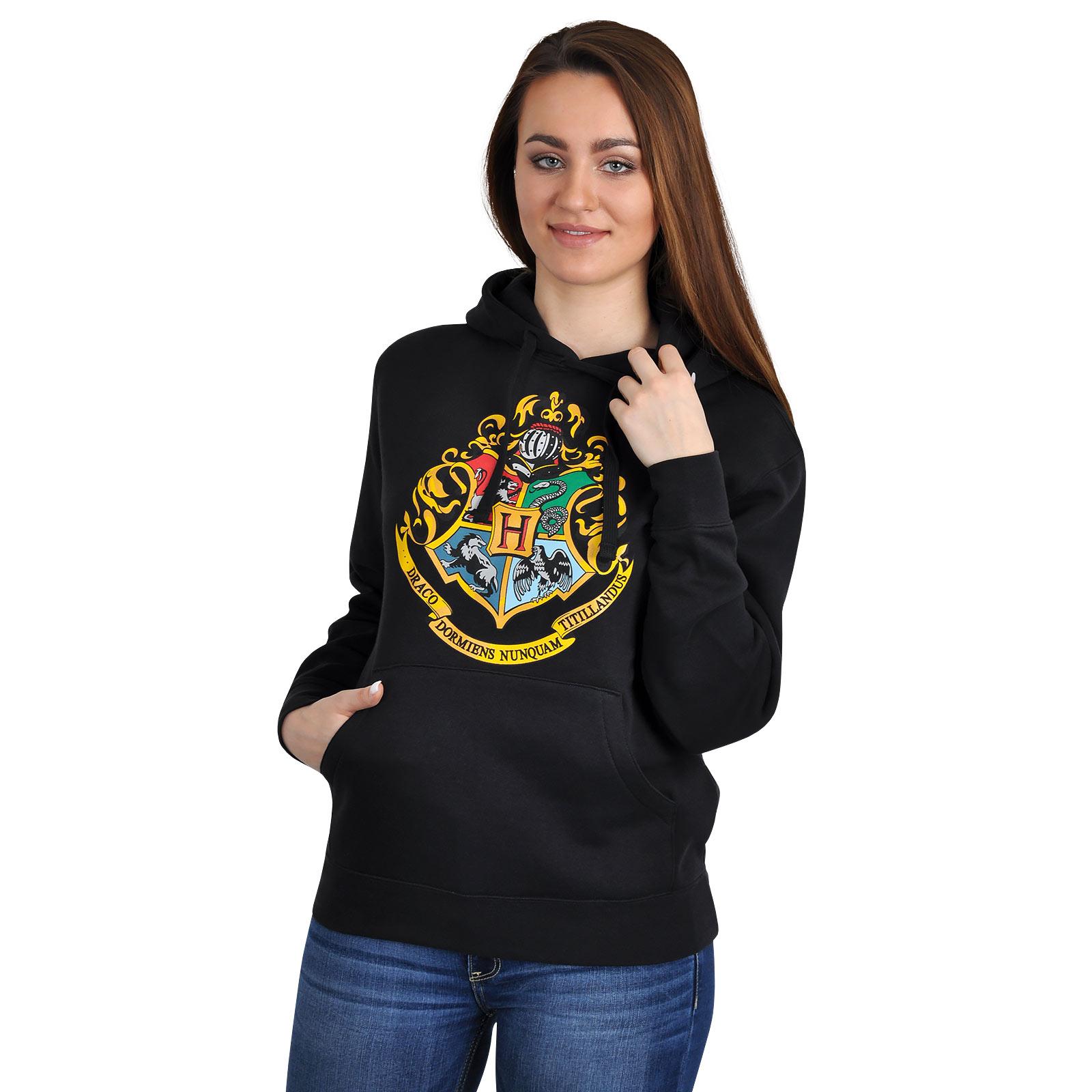 Harry Potter - Hogwarts Hoodie schwarz