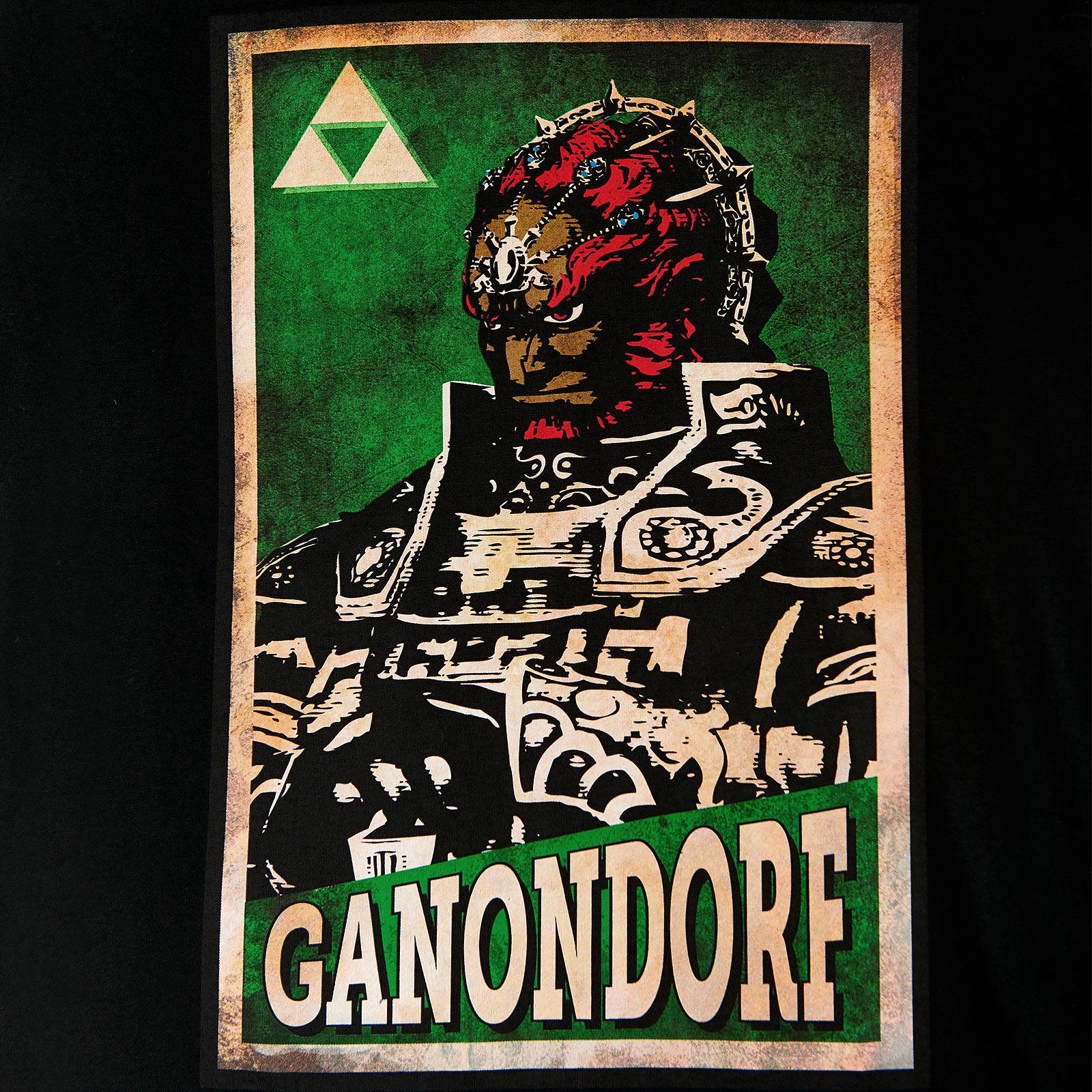 Zelda - Ganondorf Propaganda Poster T-Shirt schwarz