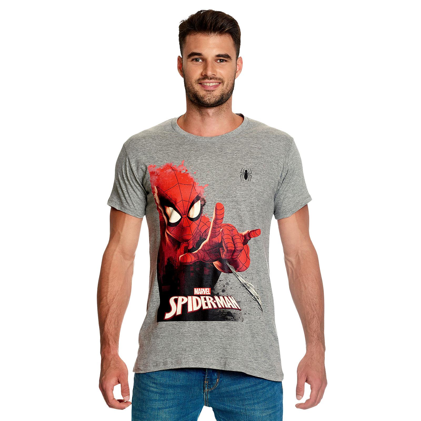 Spider-Man - Attack T-Shirt grau