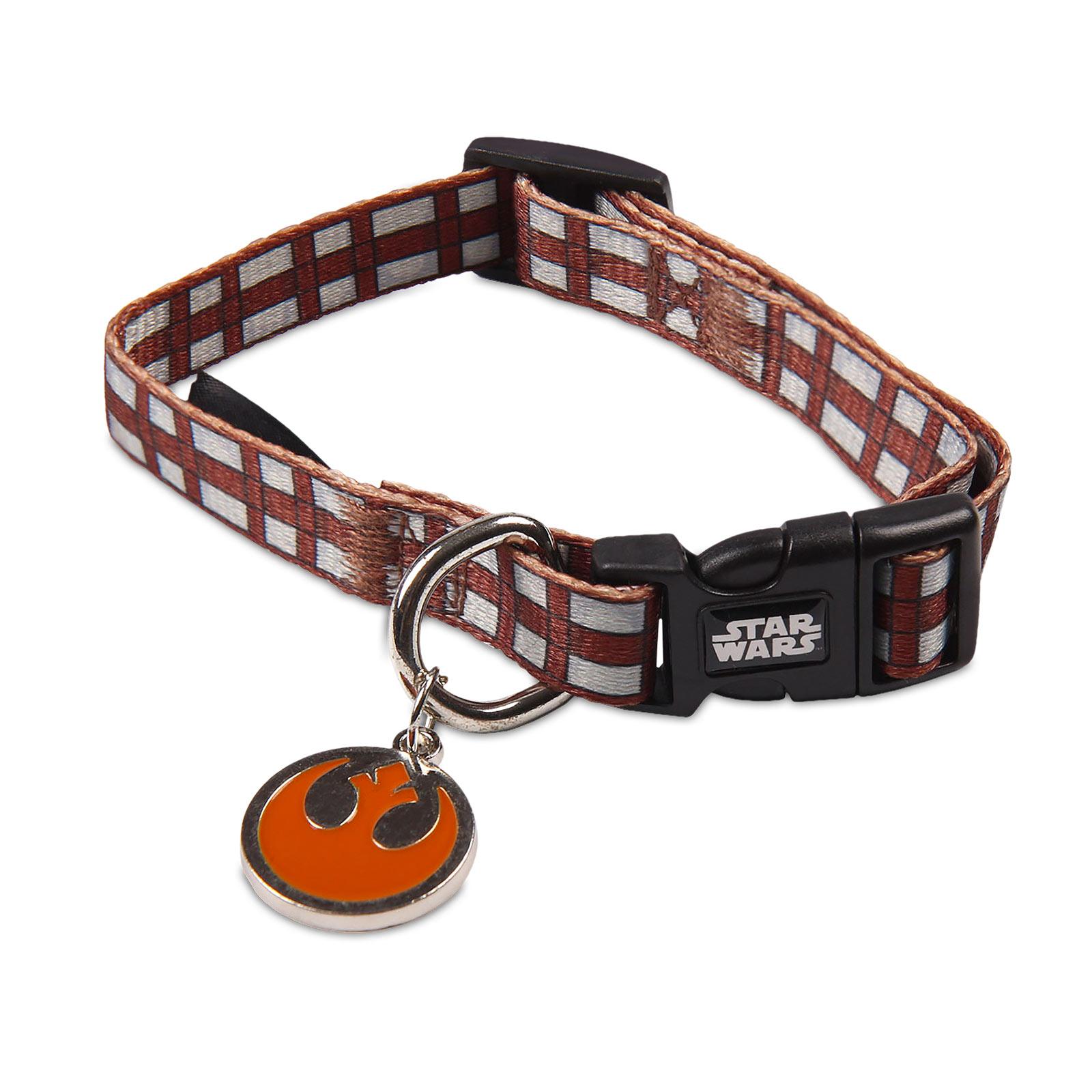 Star Wars - Chewbacca Klick-Halsband für Hunde braun