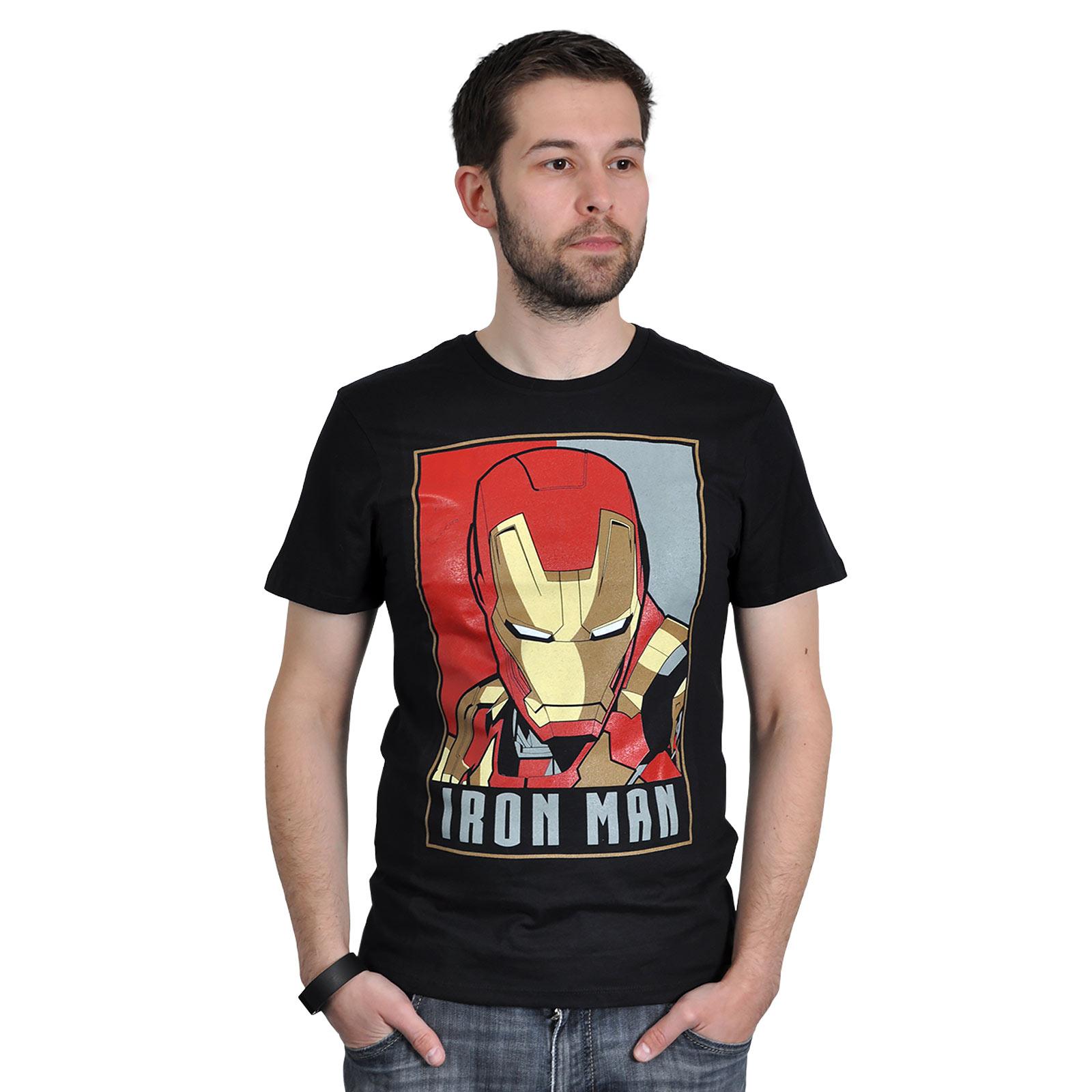 Iron Man - Poster T-Shirt schwarz