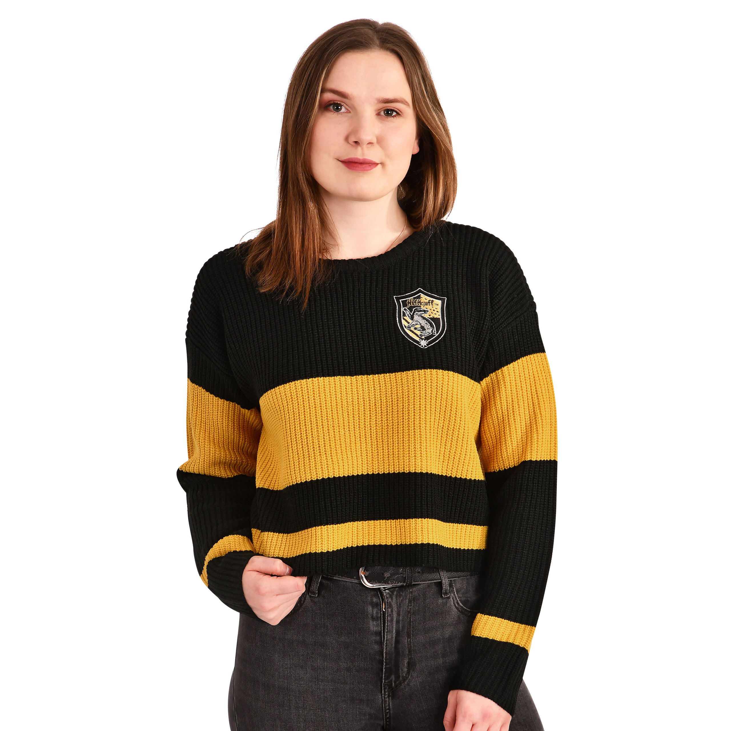 Harry Potter - Hufflepuff Crop Sweater Damen