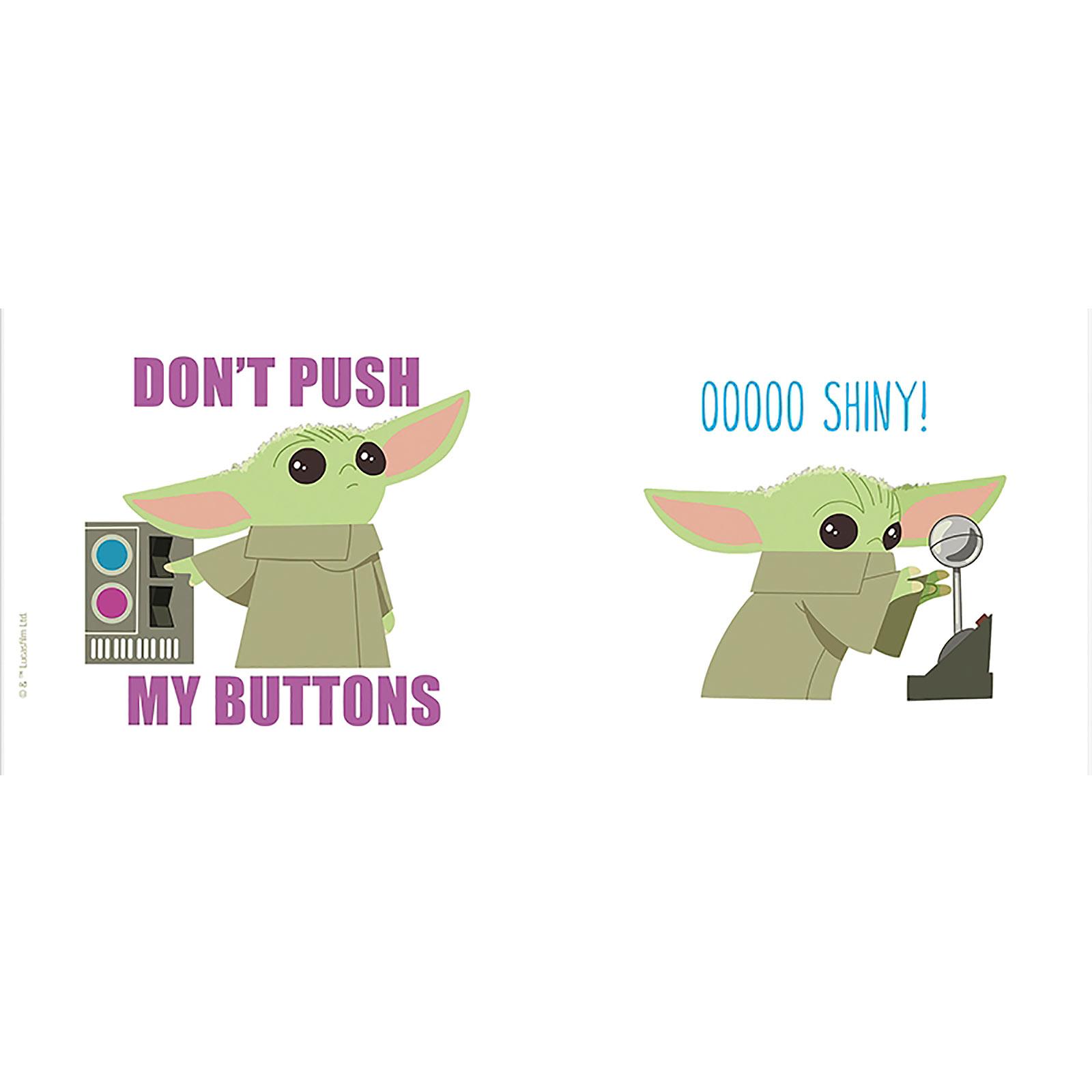 Grogu Buttons & Shiny Tasse - Star Wars The Mandalorian