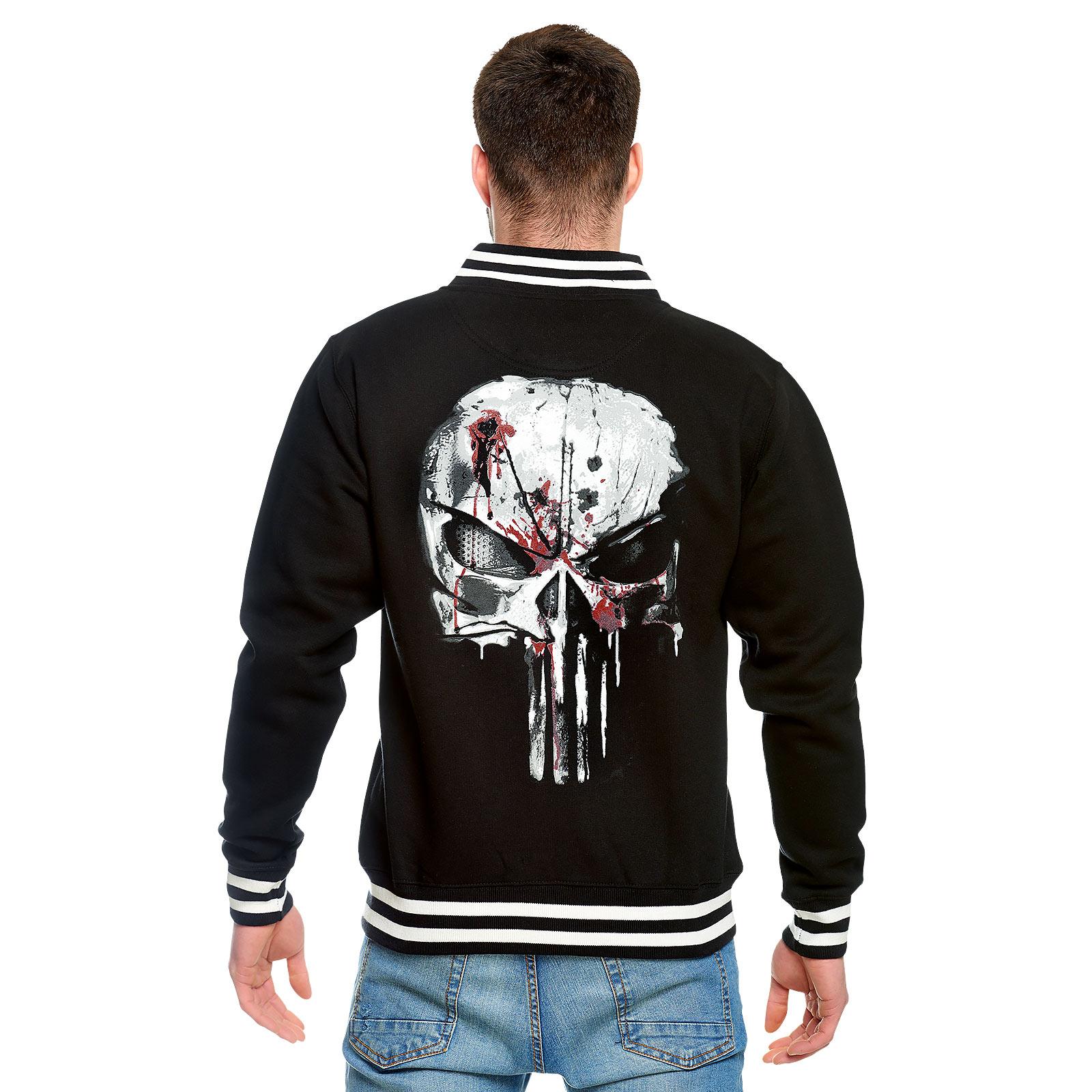 Punisher - Blood Skull College Jacke schwarz-weiß