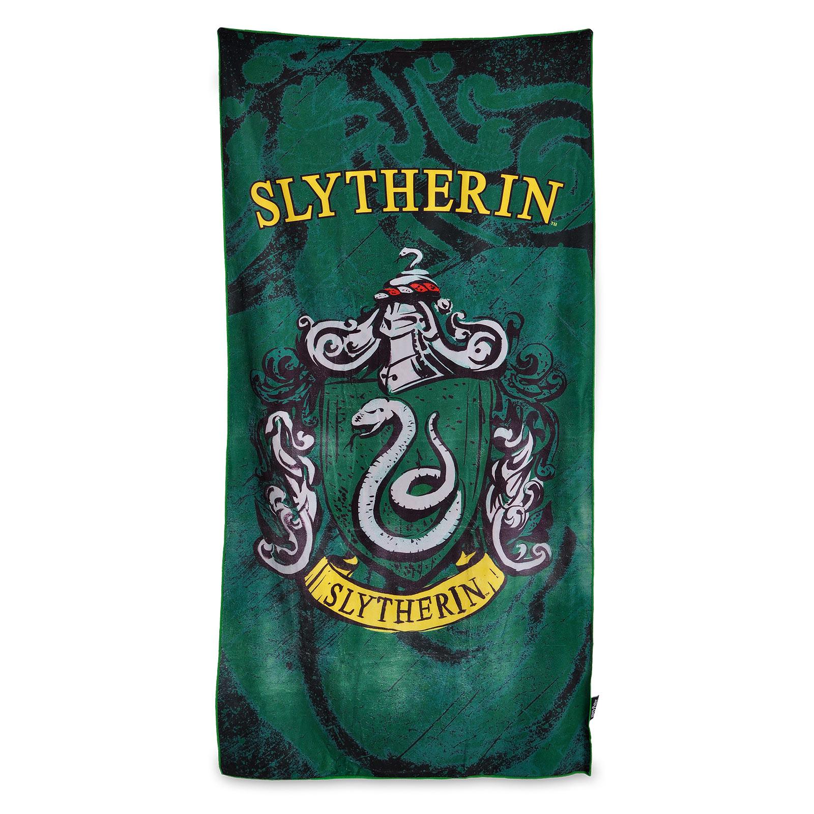 Harry Potter - Slytherin Wappen Strandtuch