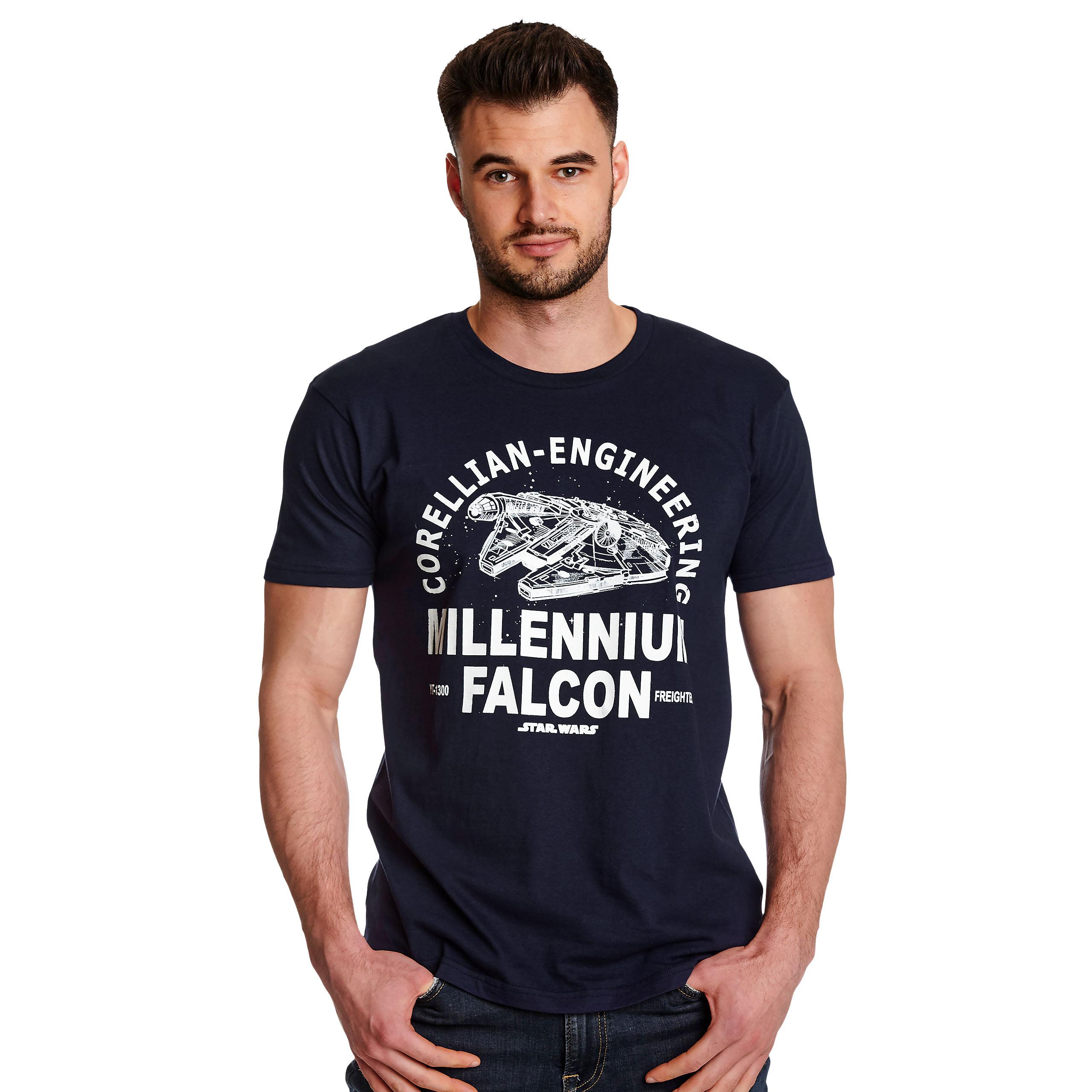 Star Wars - Millennium Falcon Corellian Engineering T-Shirt blau