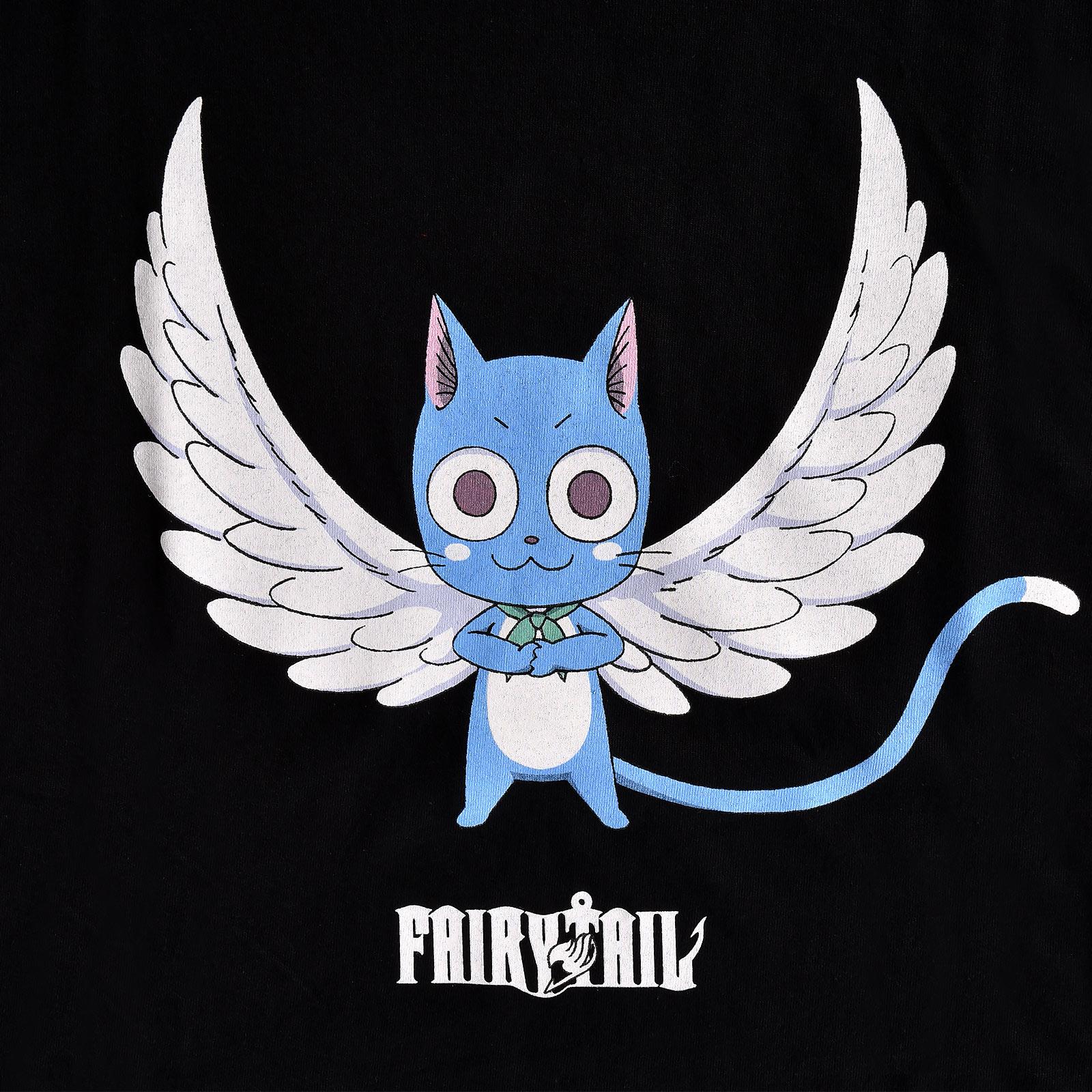 Fairy Tail - Happy Magic T-Shirt Damen schwarz