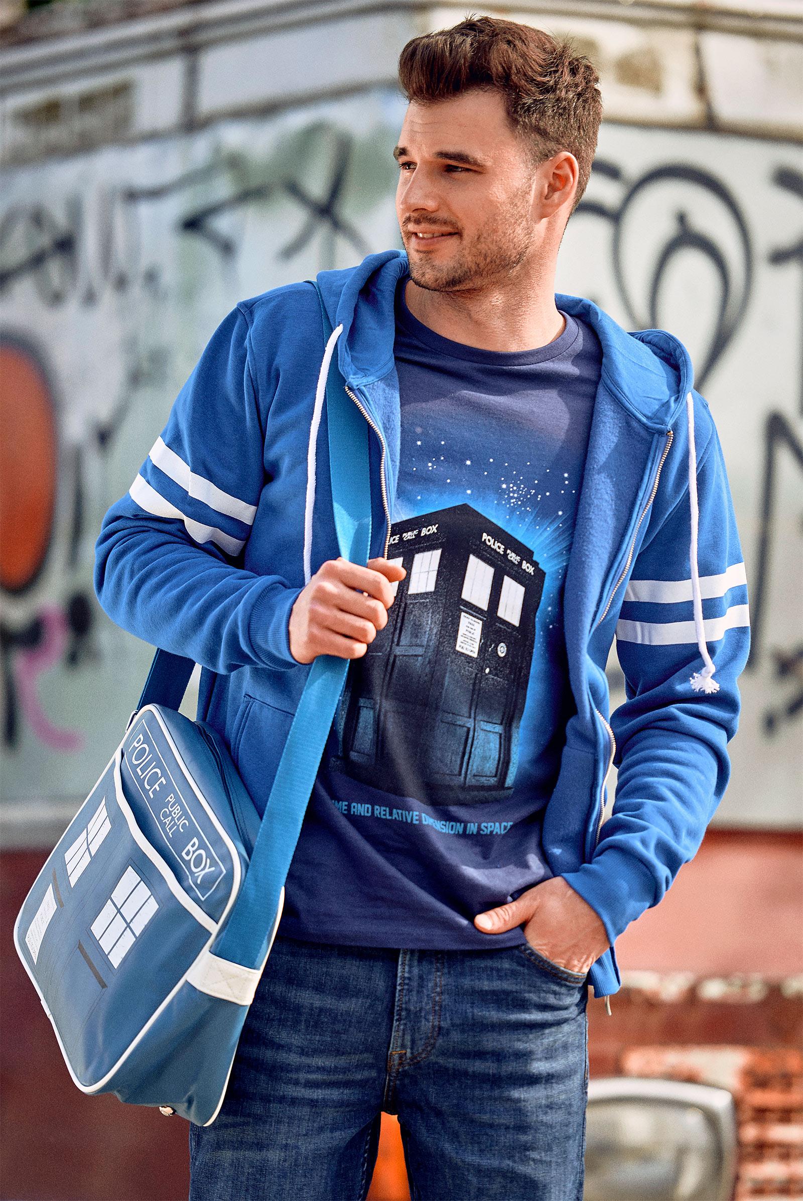 Doctor Who - Tardis Space T-Shirt blau