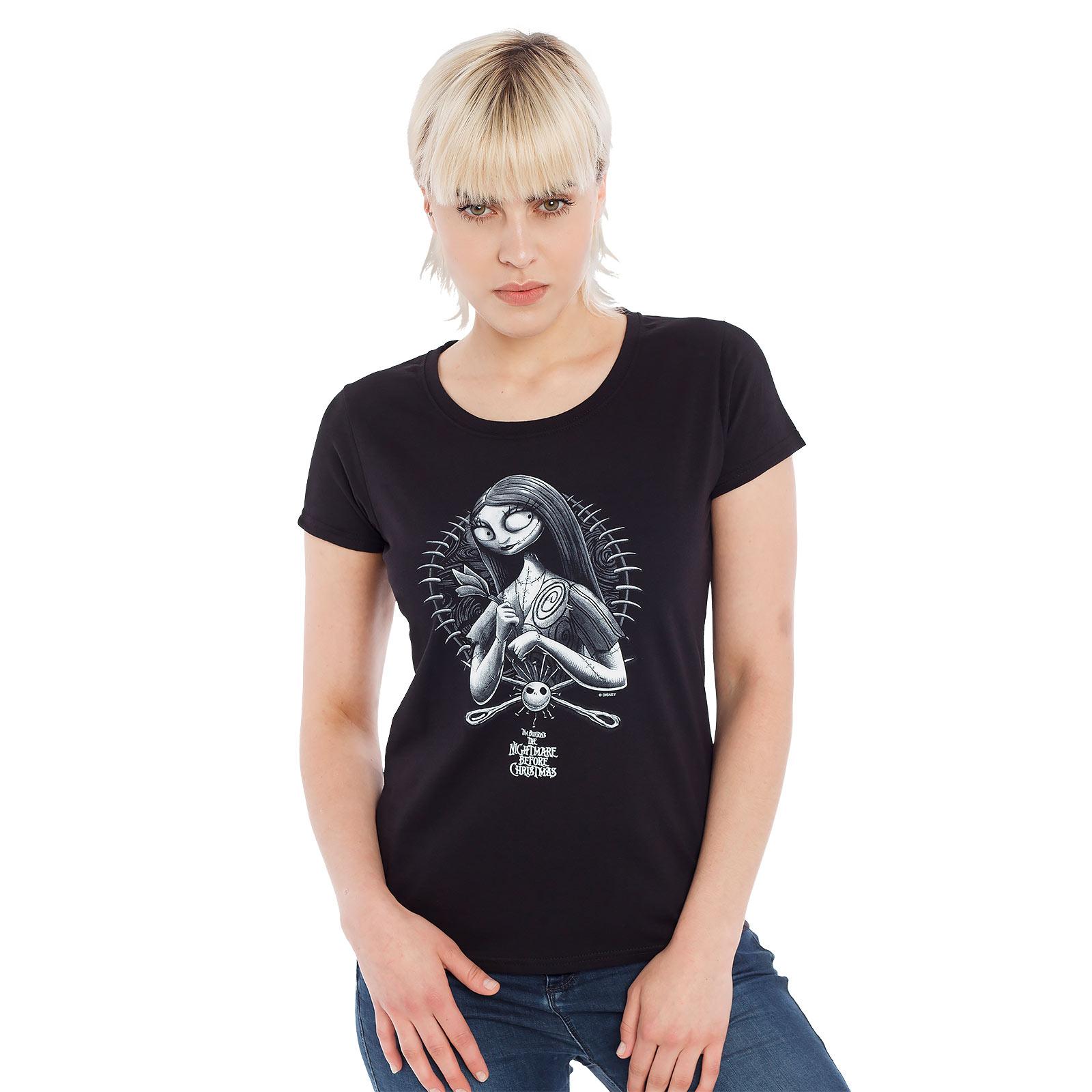Nightmare Before Christmas - Sally Girlie Shirt schwarz