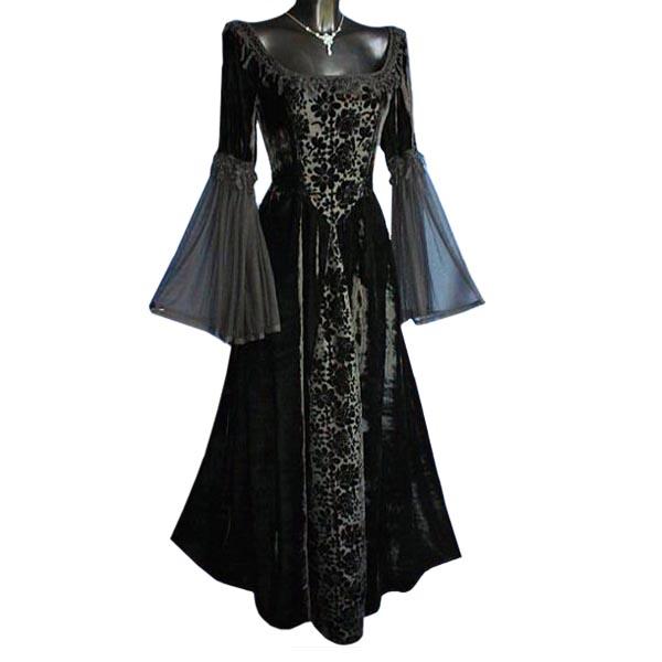 Melinda - Gothic Kleid schwarz