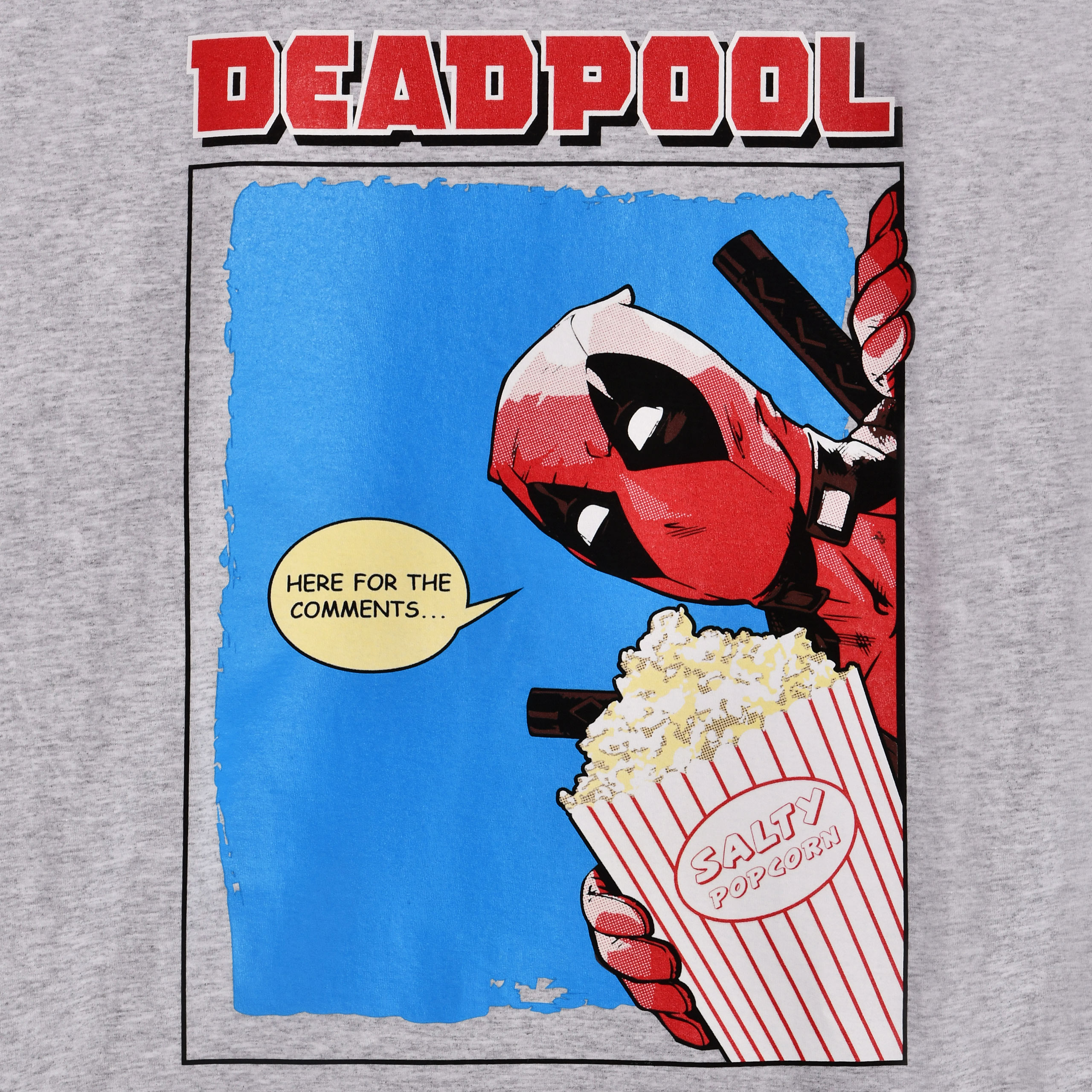 Deadpool - Here for the Comments T-Shirt grau