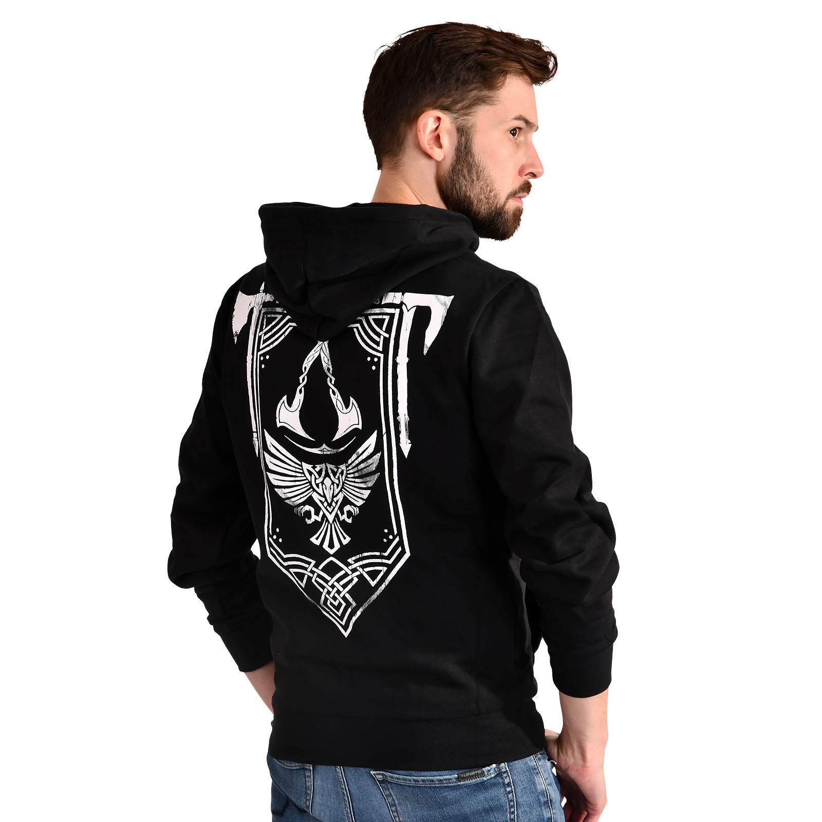 Assassin's Creed - Valhalla Crest Banner Kapuzenjacke schwarz
