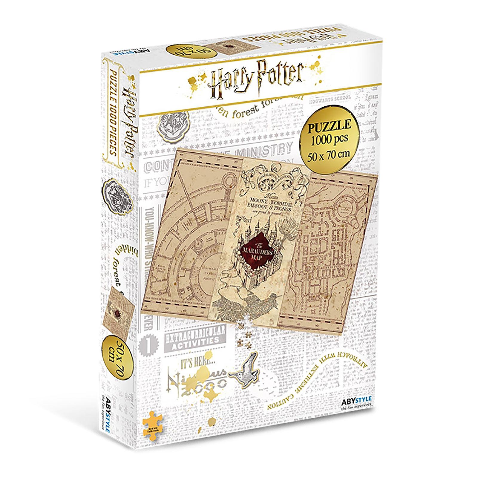 Harry Potter - Karte des Rumtreibers Puzzle 1000 Teile