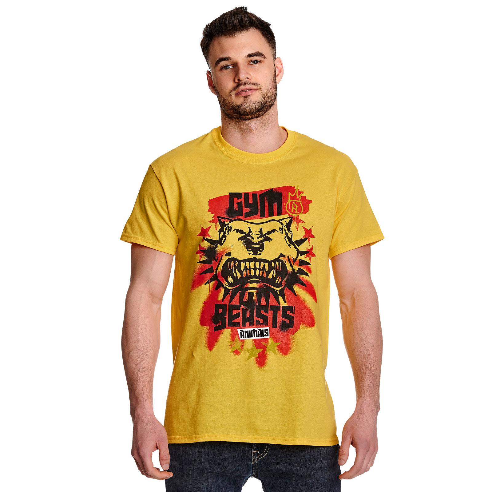 Cyberpunk 2077 - Gym Beasts T-Shirt gelb