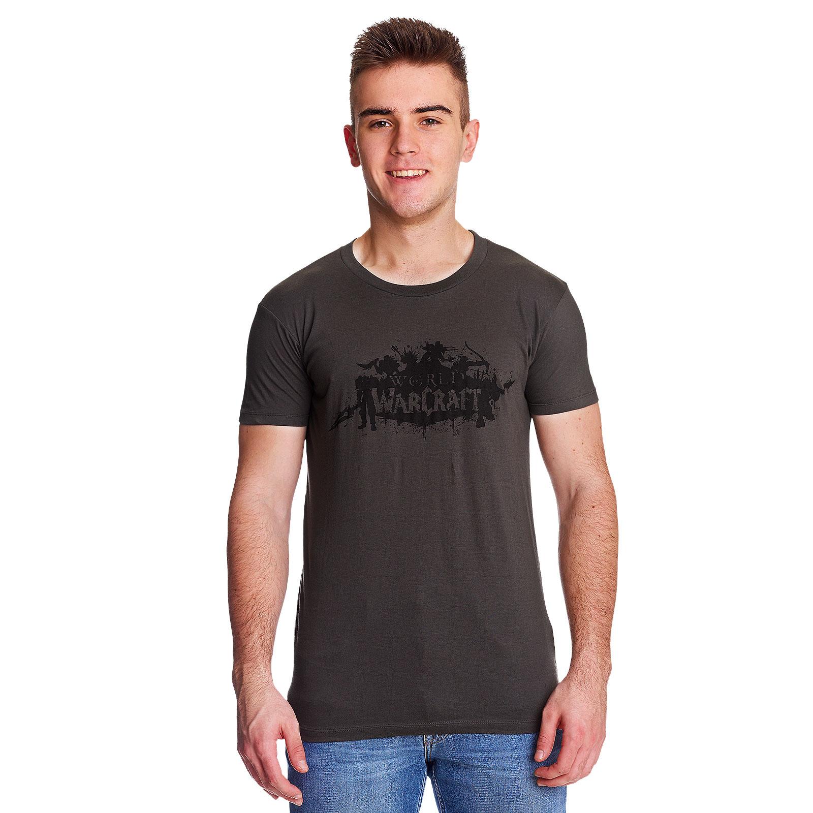 World of Warcraft - Logo Silhouettes T-Shirt grau