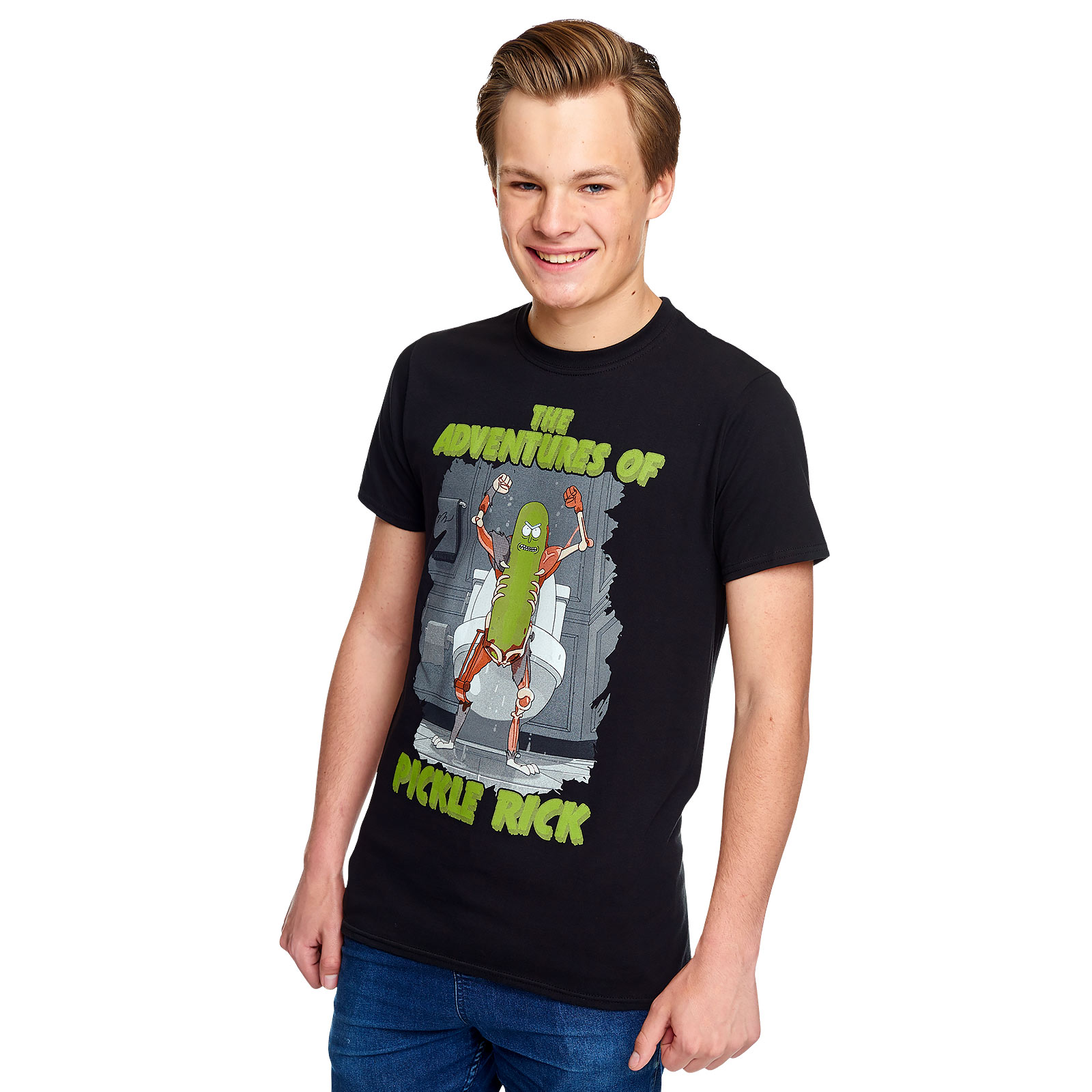 Rick and Morty - Adventures of Pickle Rick T-Shirt schwarz