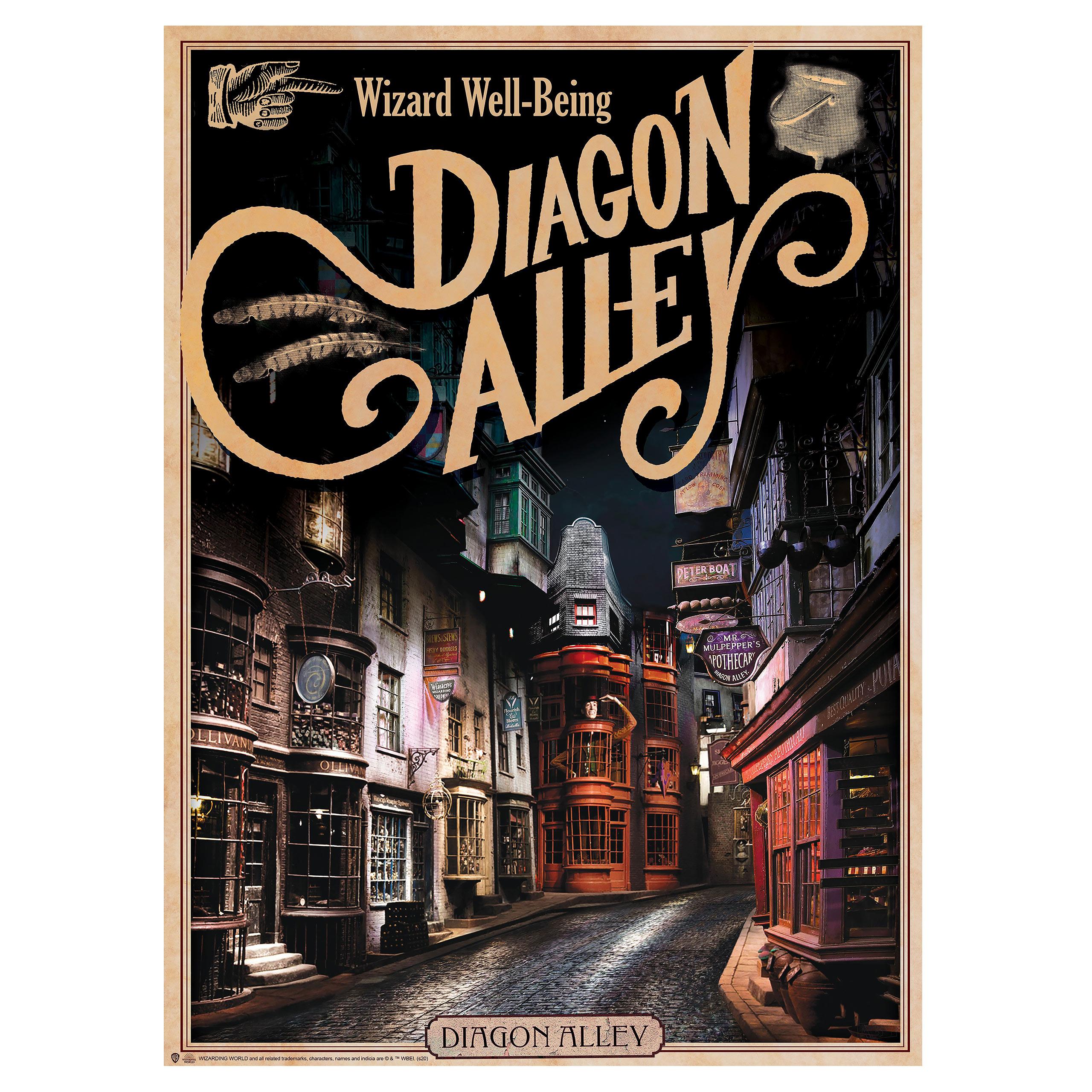 Harry Potter - Hogwarts Schloss & Winkelgasse Poster 2er Set