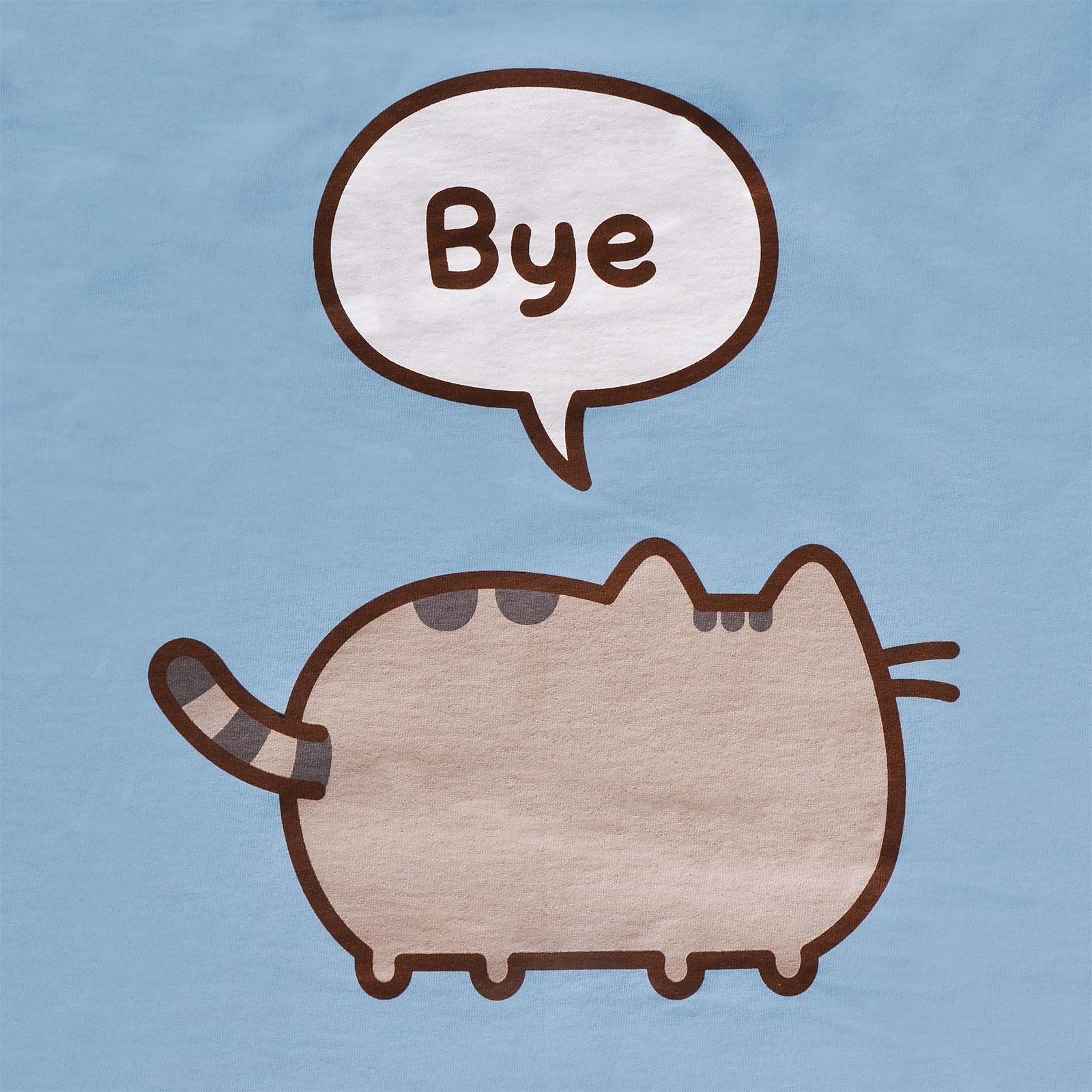 Pusheen - Hi Bye! T-Shirt Damen blau