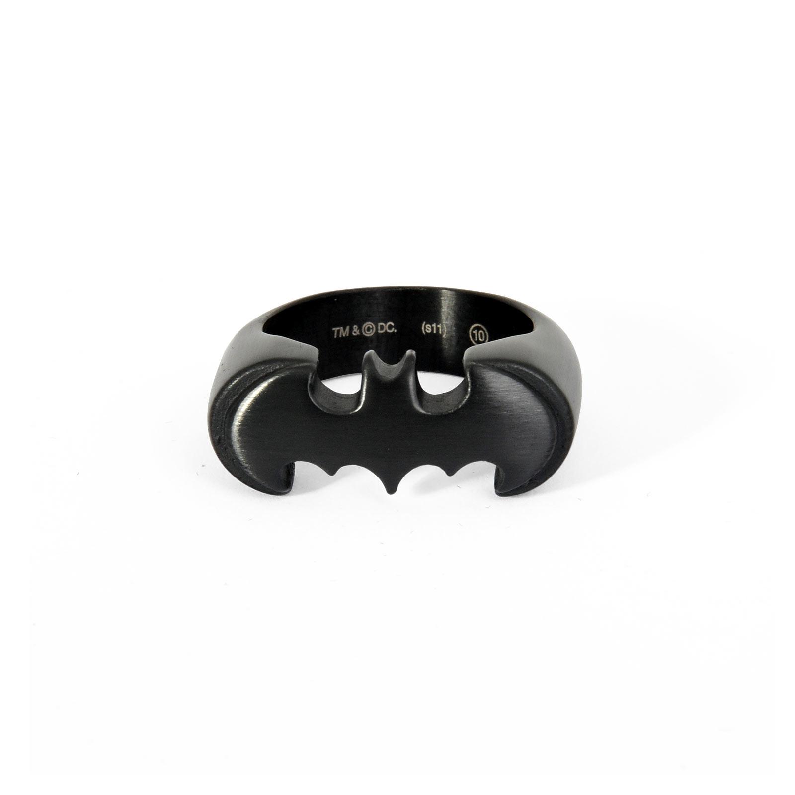 Batman - Emblem Ring schwarz