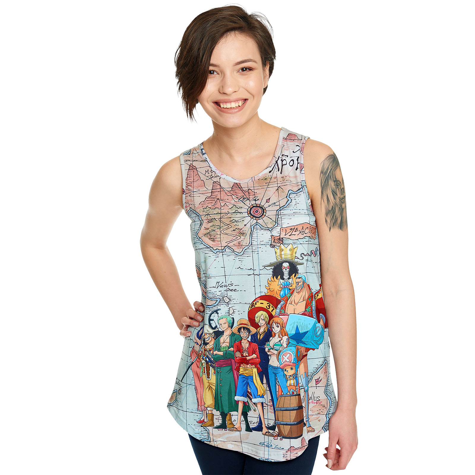 One Piece - East Blue Map Tank Top Loose Fit