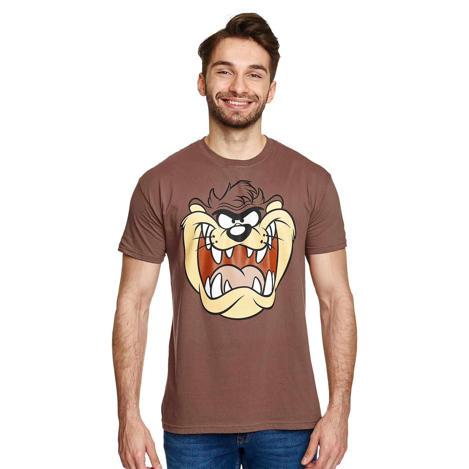 Looney Tunes - Taz Face T-Shirt braun