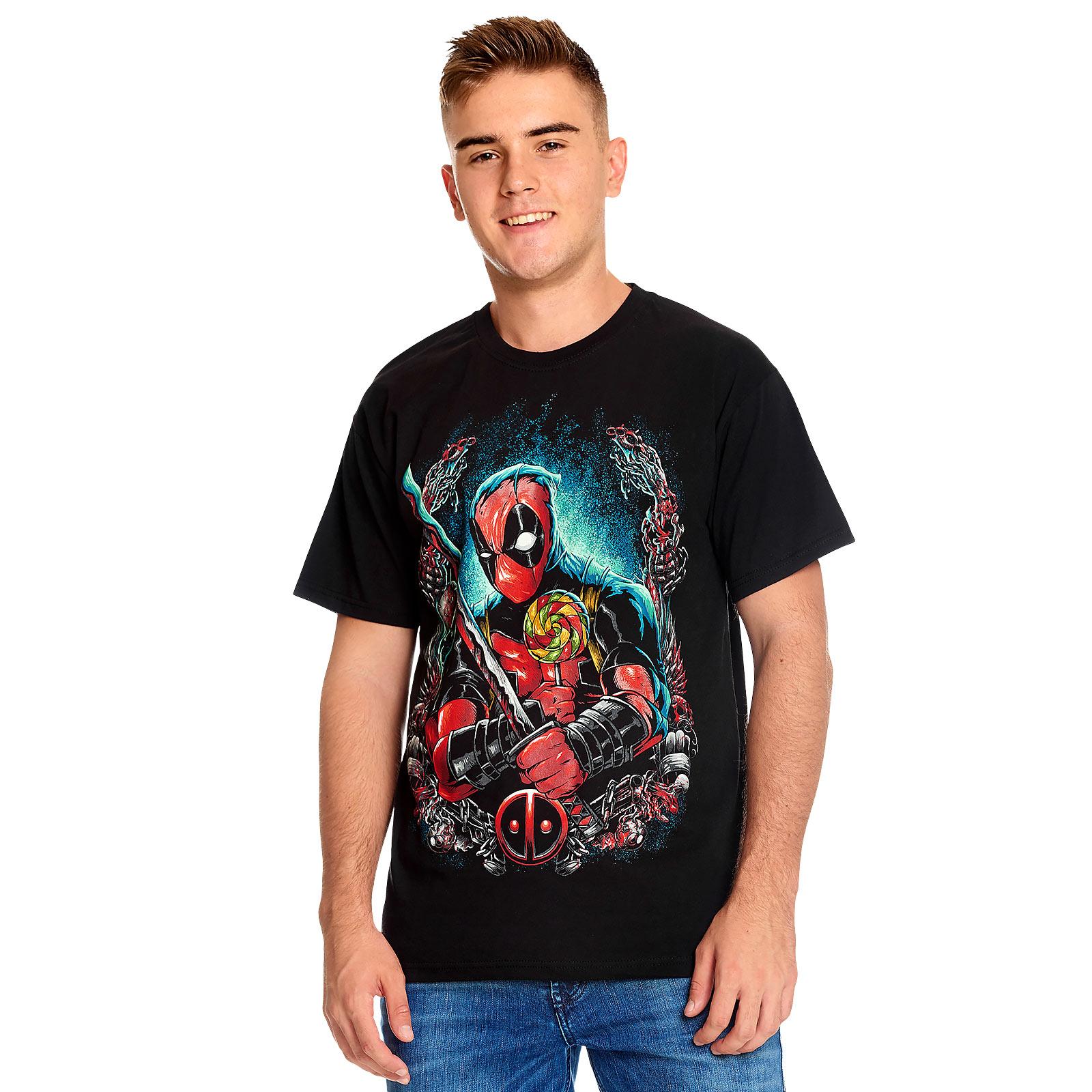 Deadpool - Lollipop T-Shirt schwarz