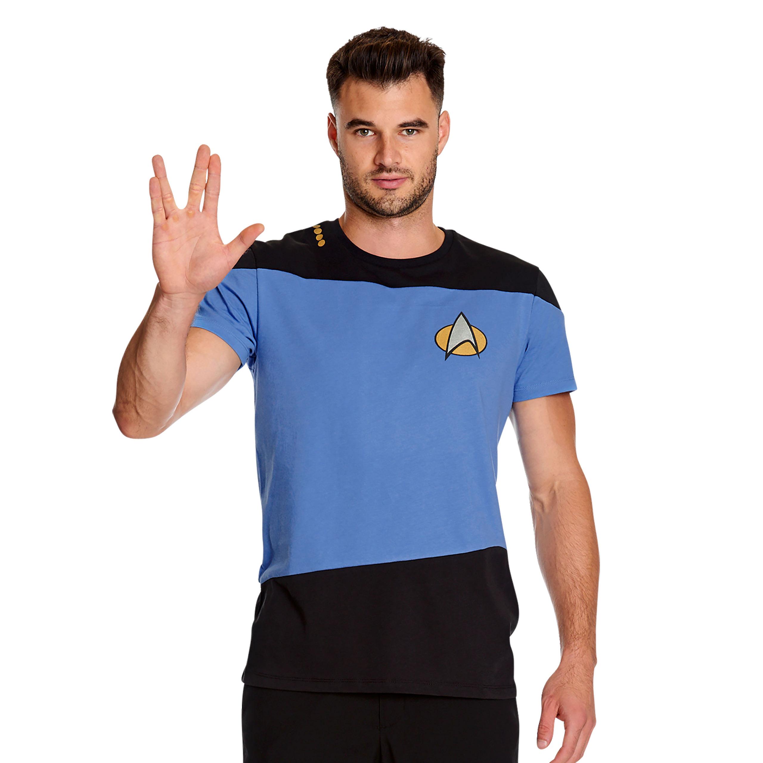 The Next Generation Uniform T-Shirt blau - Star Trek