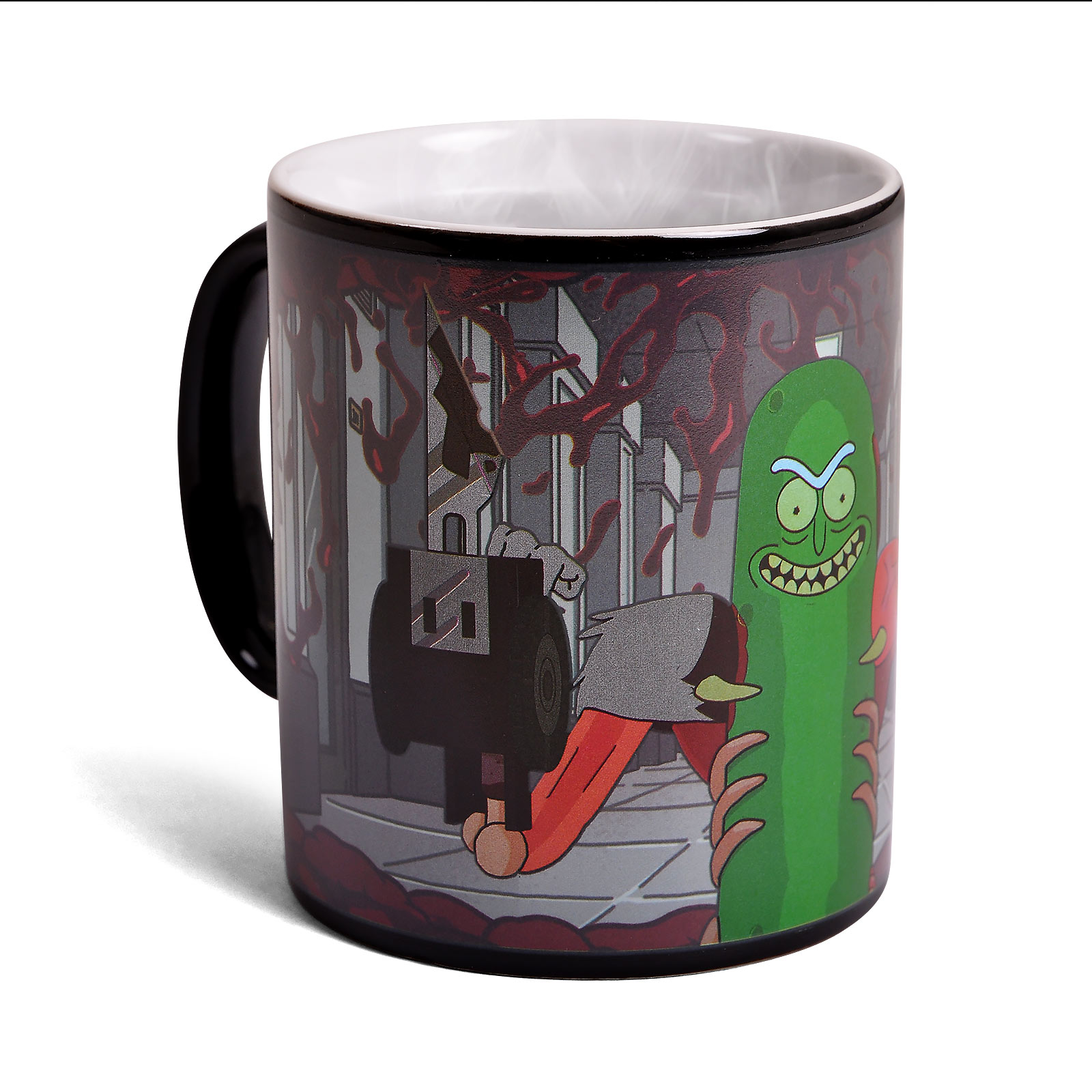 Rick and Morty - Pickle Rick Thermoeffekt Tasse