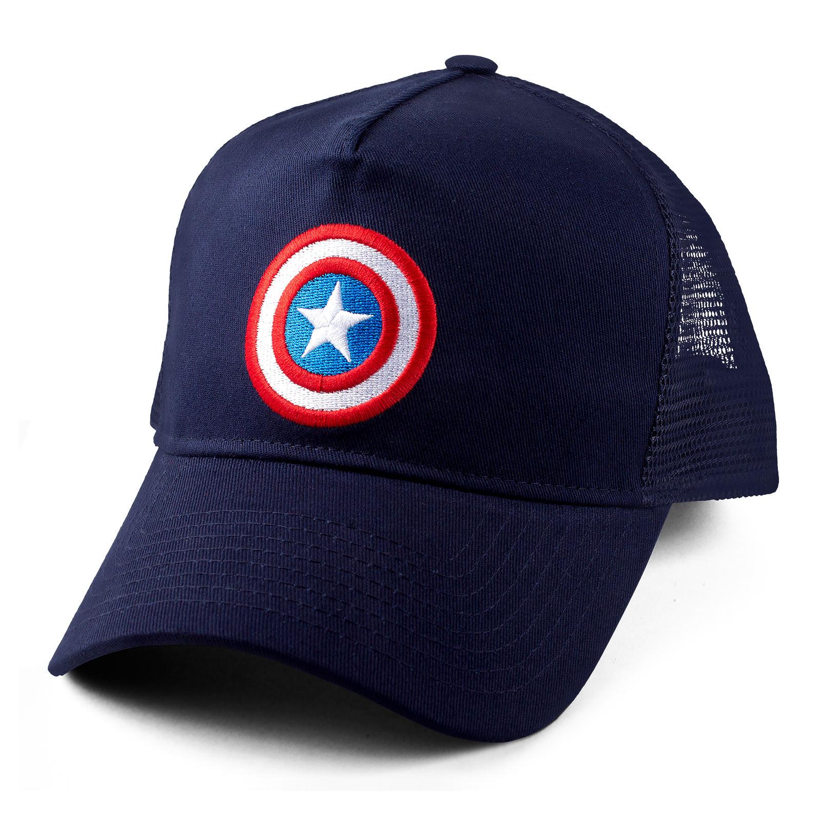 Captain America - Shield Logo Mesh Basecap blau