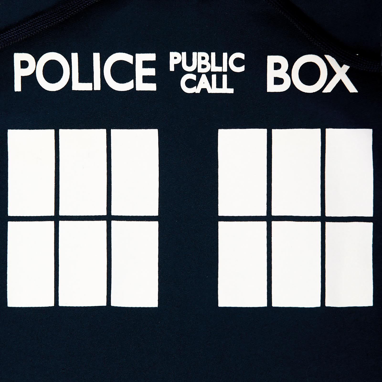 Doctor Who - Tardis Police Box Hoodie blau