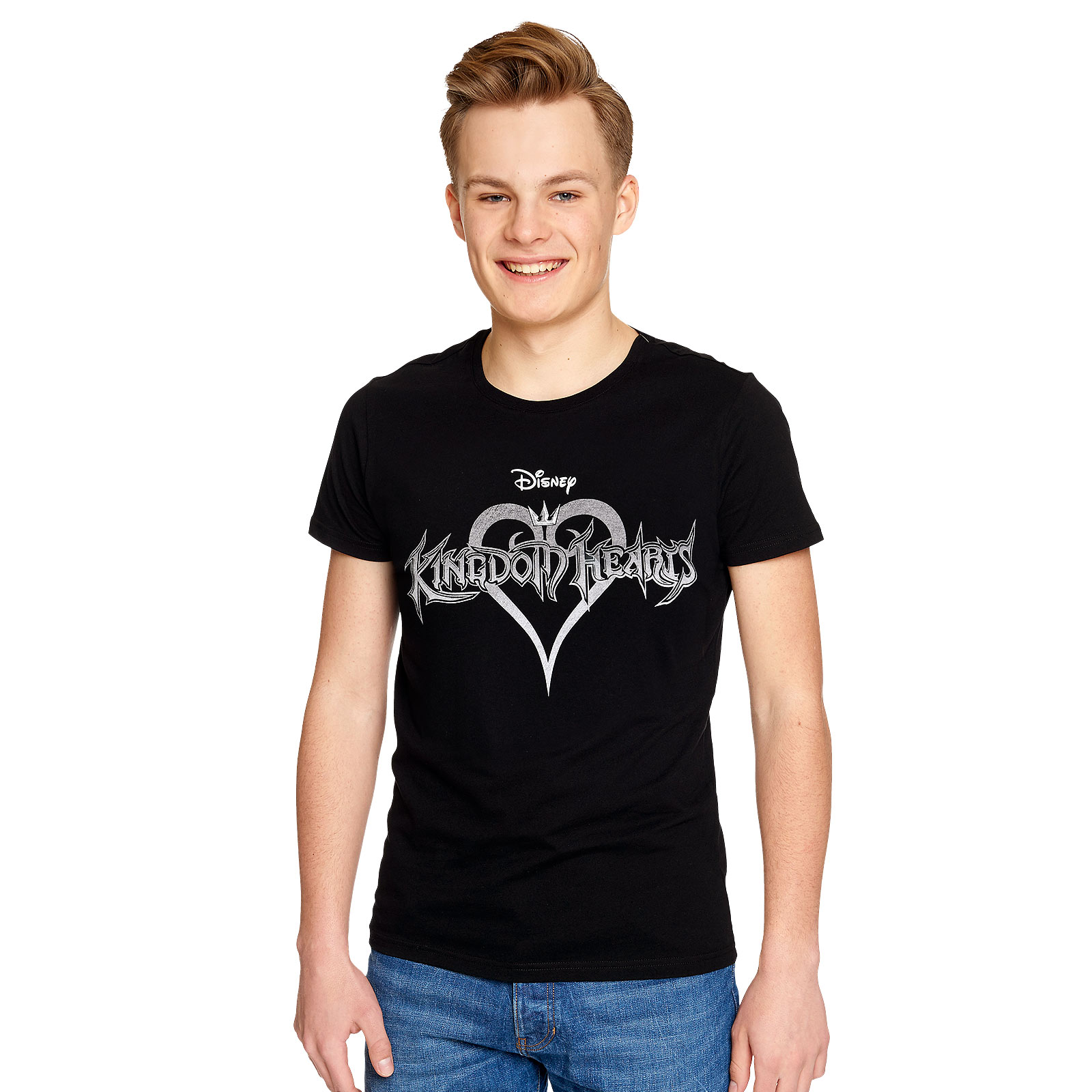 Kingdom Hearts - Logo T-Shirt schwarz