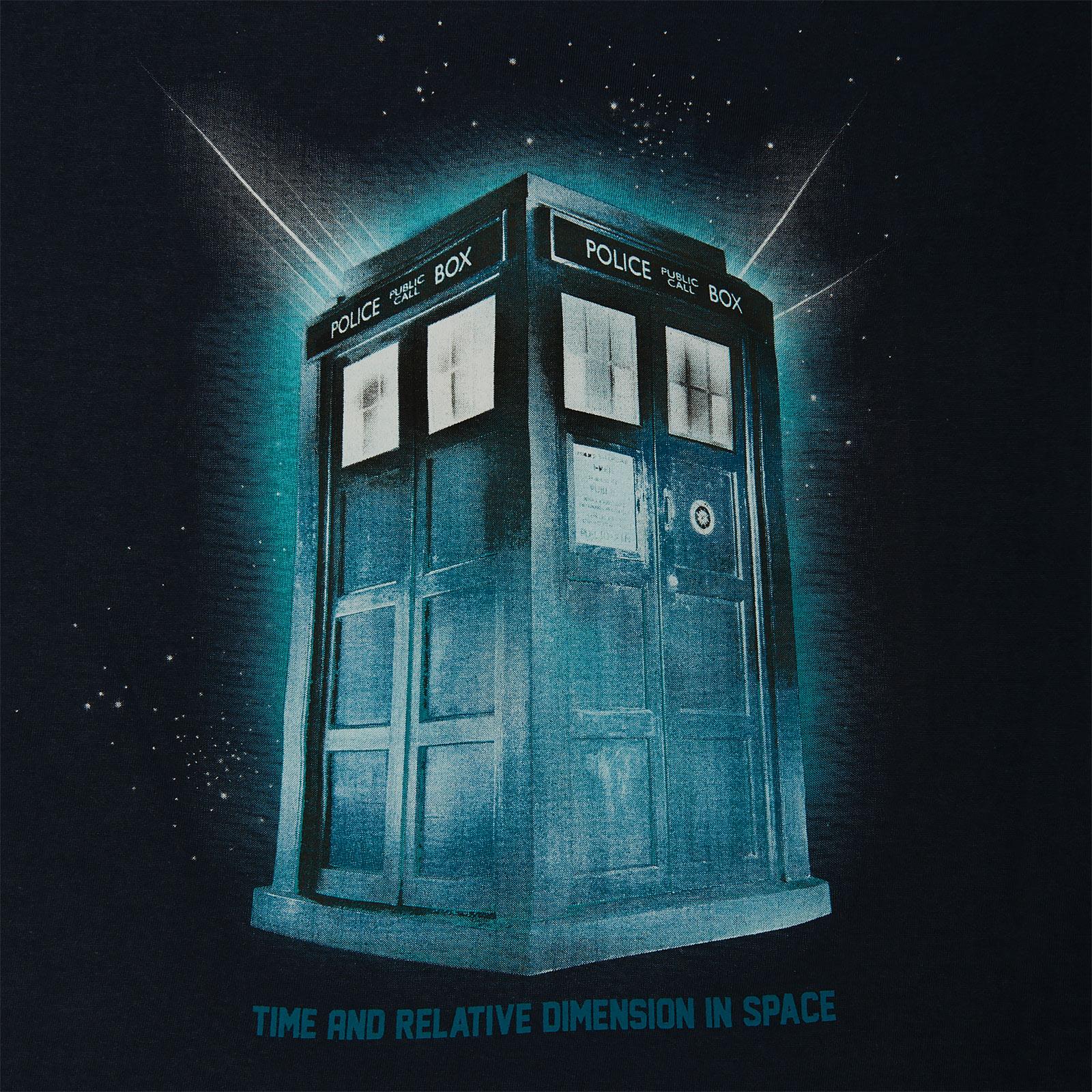 Doctor Who - Tardis Space T-Shirt Damen blau