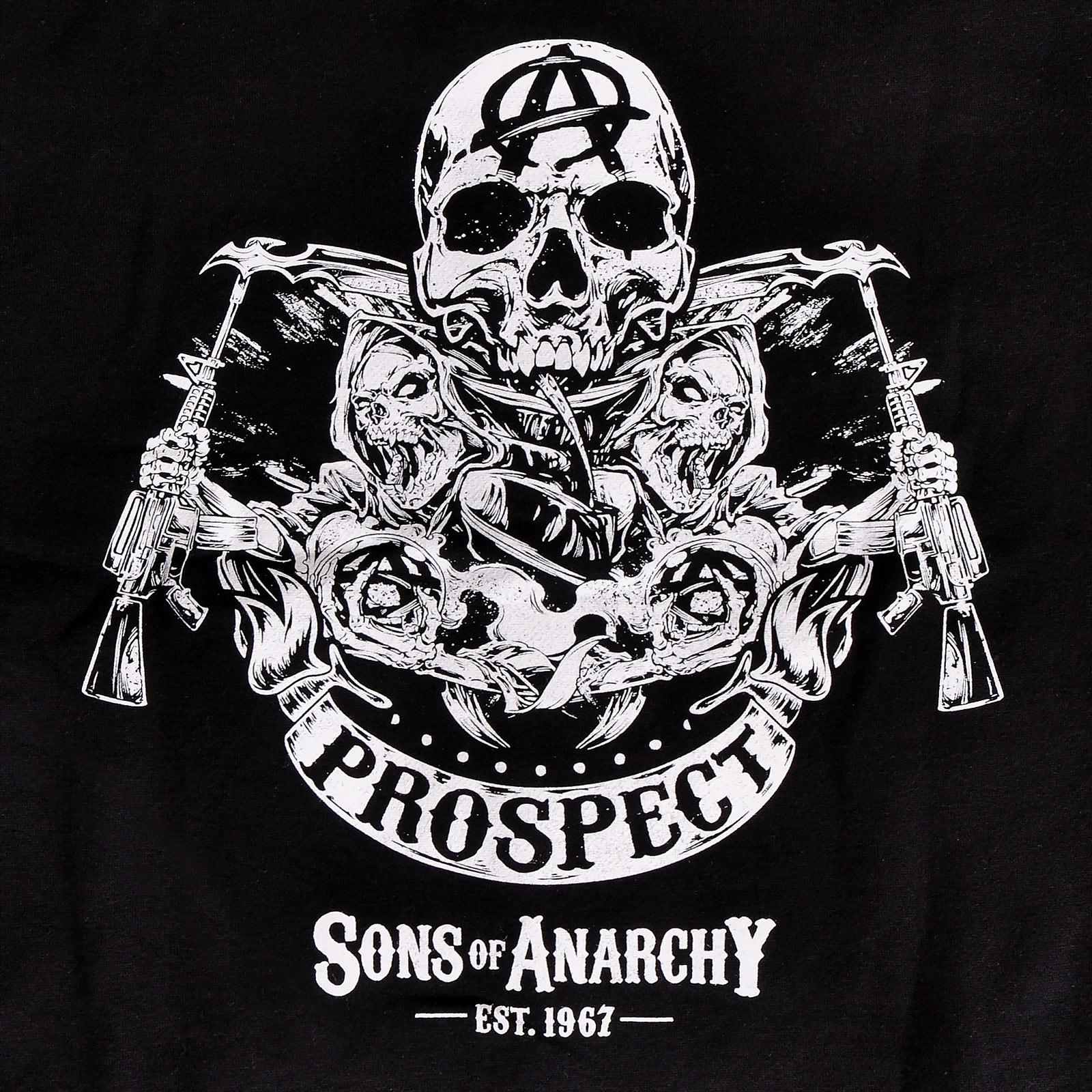 Sons of Anarchy - Reaper & Prospect College Jacke schwarz-weiß