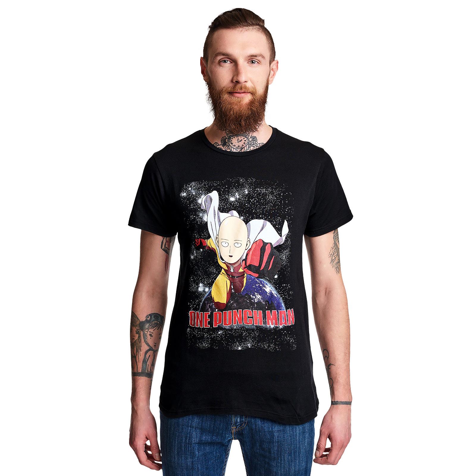 One Punch Man - Fight T-Shirt schwarz