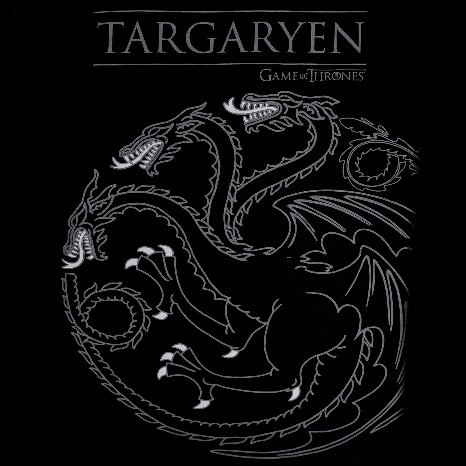 Game of Thrones - House Targaryen T-Shirt schwarz