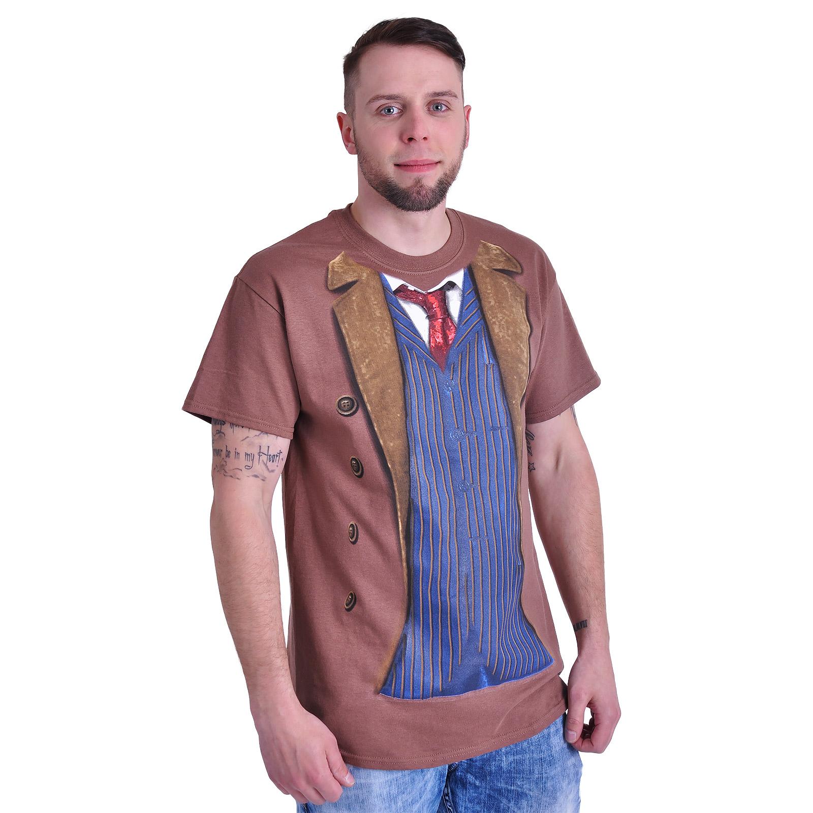 Doctor Who - 10. Doctor T-Shirt braun