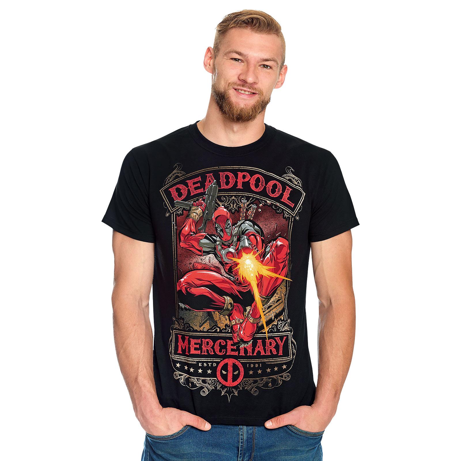 Deadpool - Mercenary T-Shirt schwarz