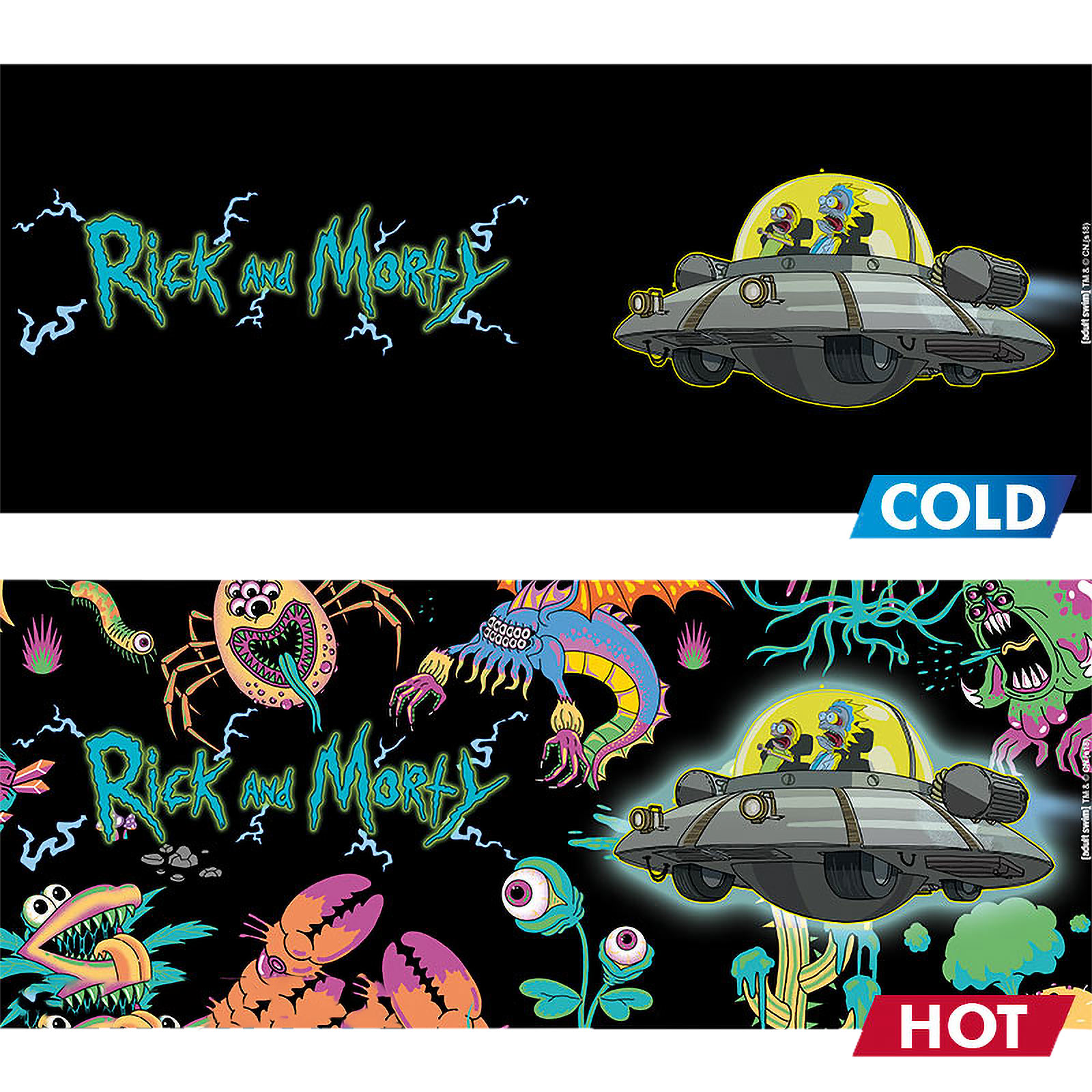 Rick and Morty - Spaceship Thermoeffekt Tasse