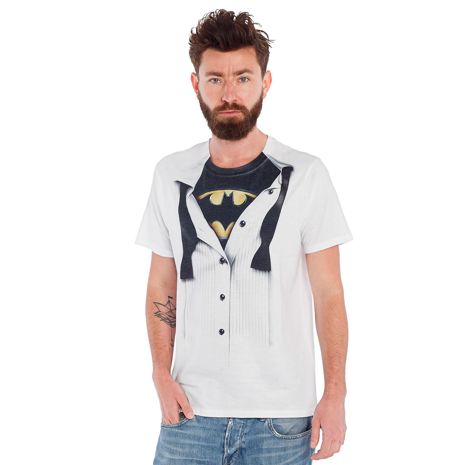 Batman - Suit T-Shirt weiß