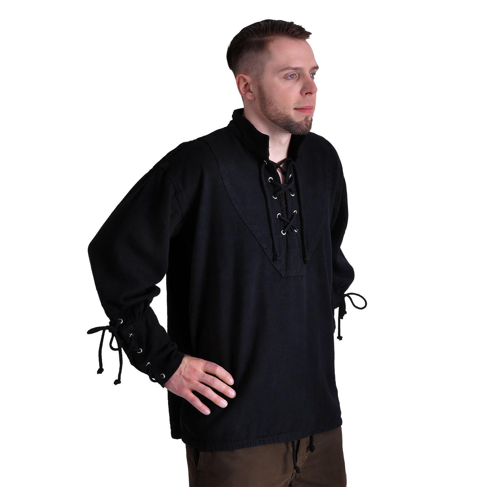 Mittelalter Hemd schwarz