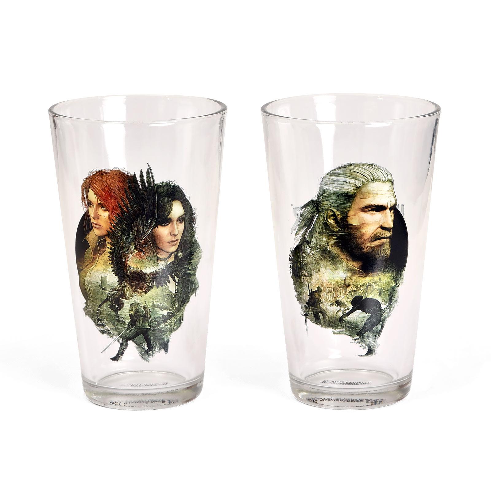 Witcher - Geralt, Triss & Yennefer Gläserset
